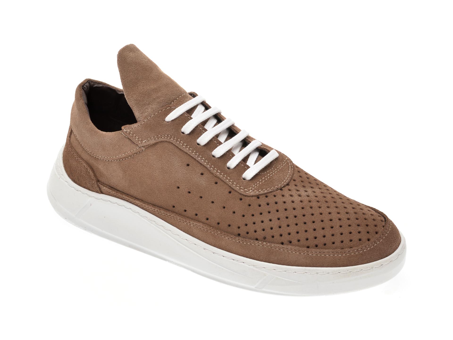 Pantofi OTTER gri, M1715, din piele intoarsa imagine