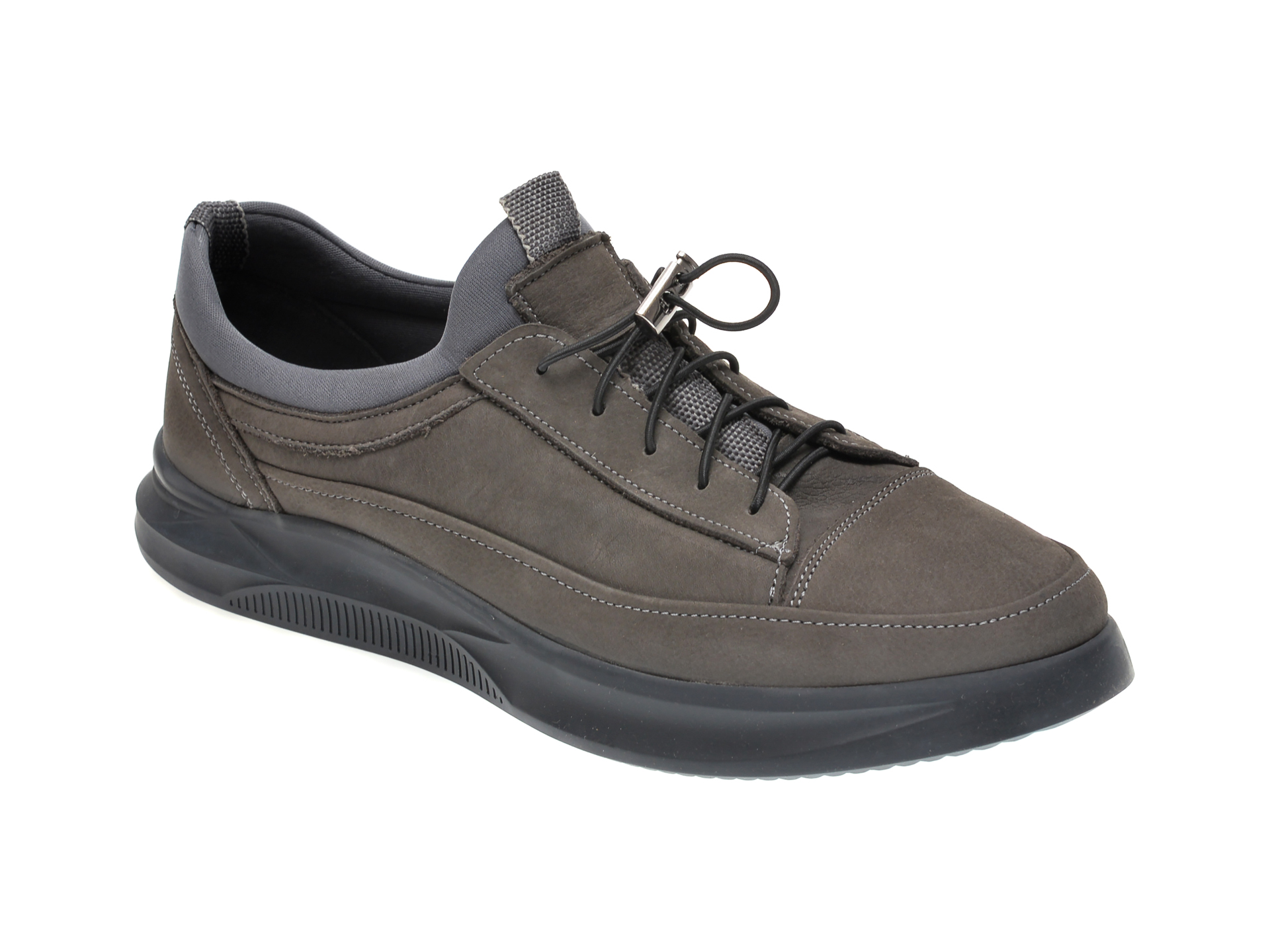 Pantofi OTTER gri, M5794, din nabuc