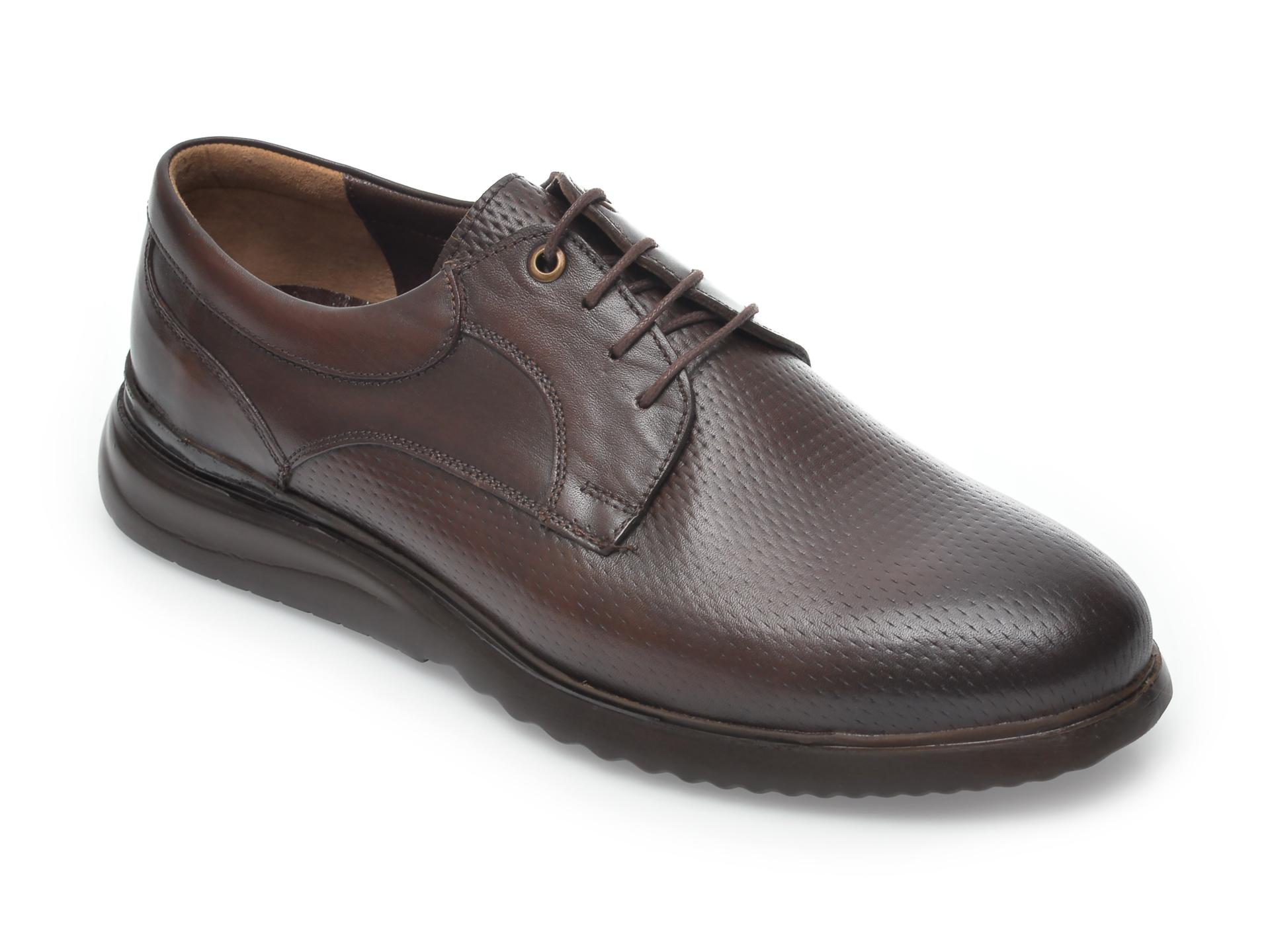 Pantofi OTTER maro, 10191, din piele naturala New