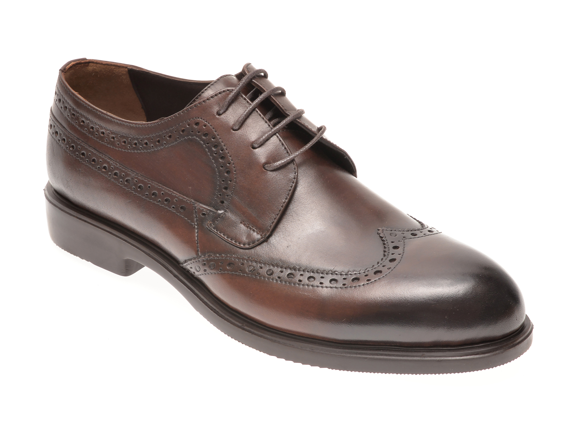 Pantofi OTTER maro, 1042, din piele naturala imagine