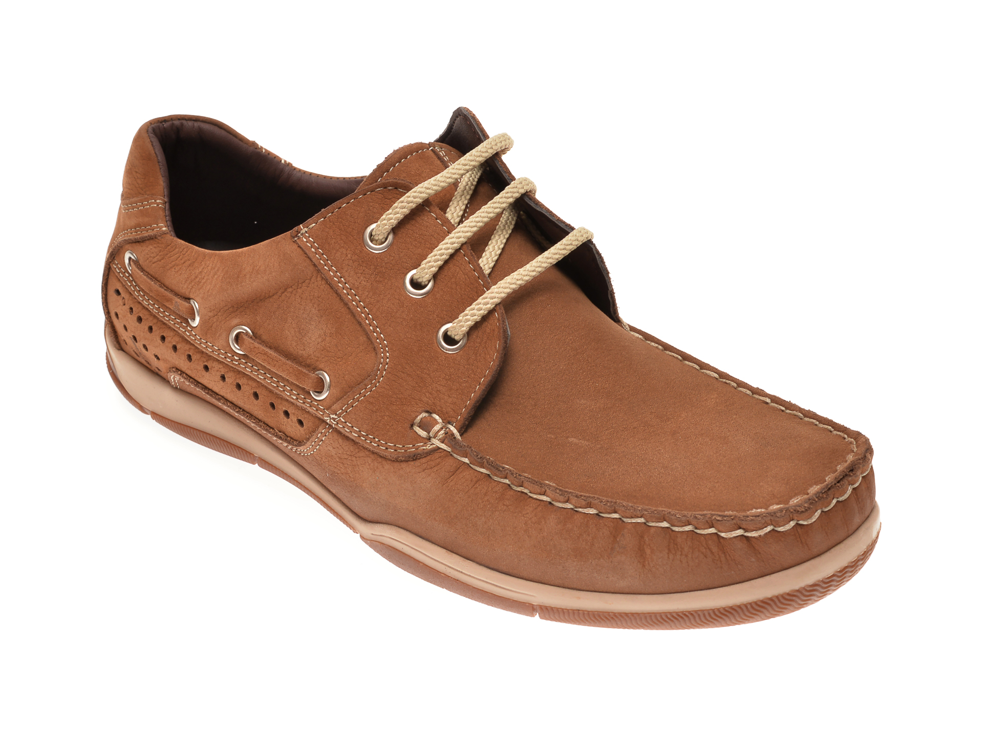 Pantofi OTTER maro, 111532, din piele intoarsa imagine