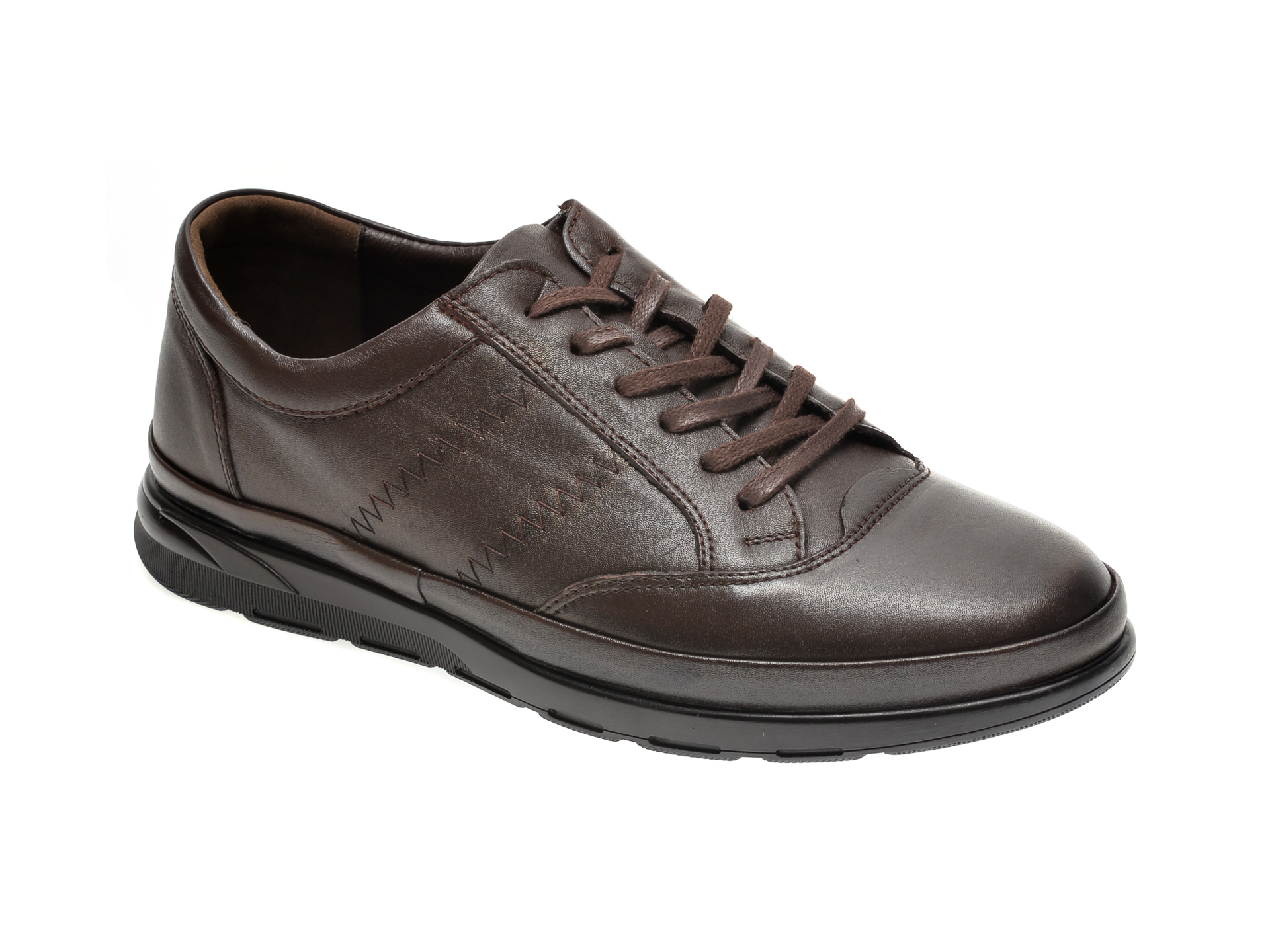 Pantofi OTTER maro, 1485, din piele naturala imagine