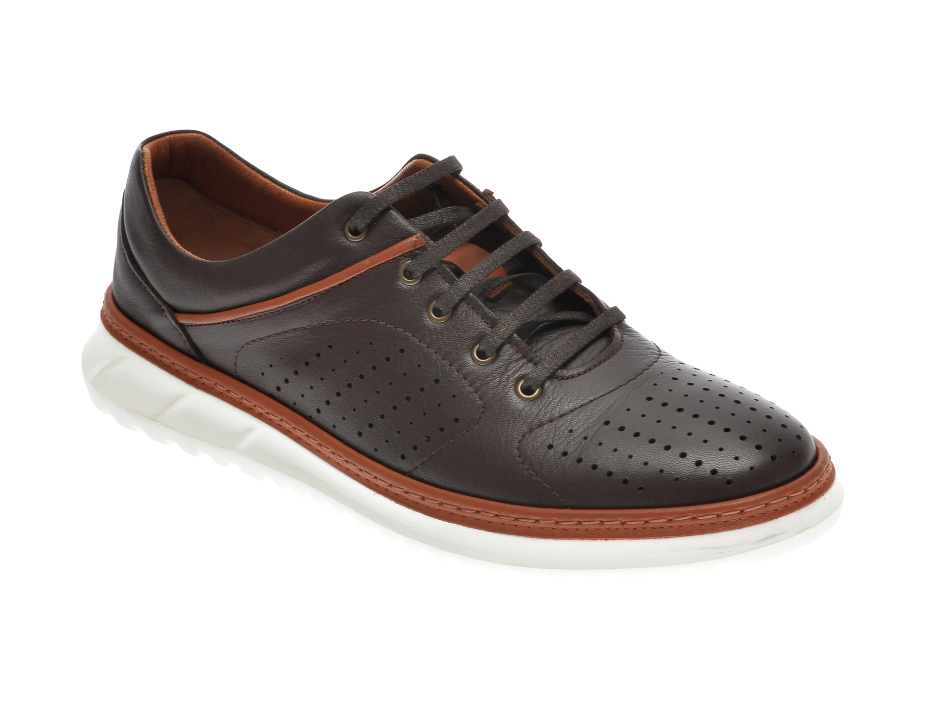 Pantofi OTTER maro, 1830, din piele naturala imagine