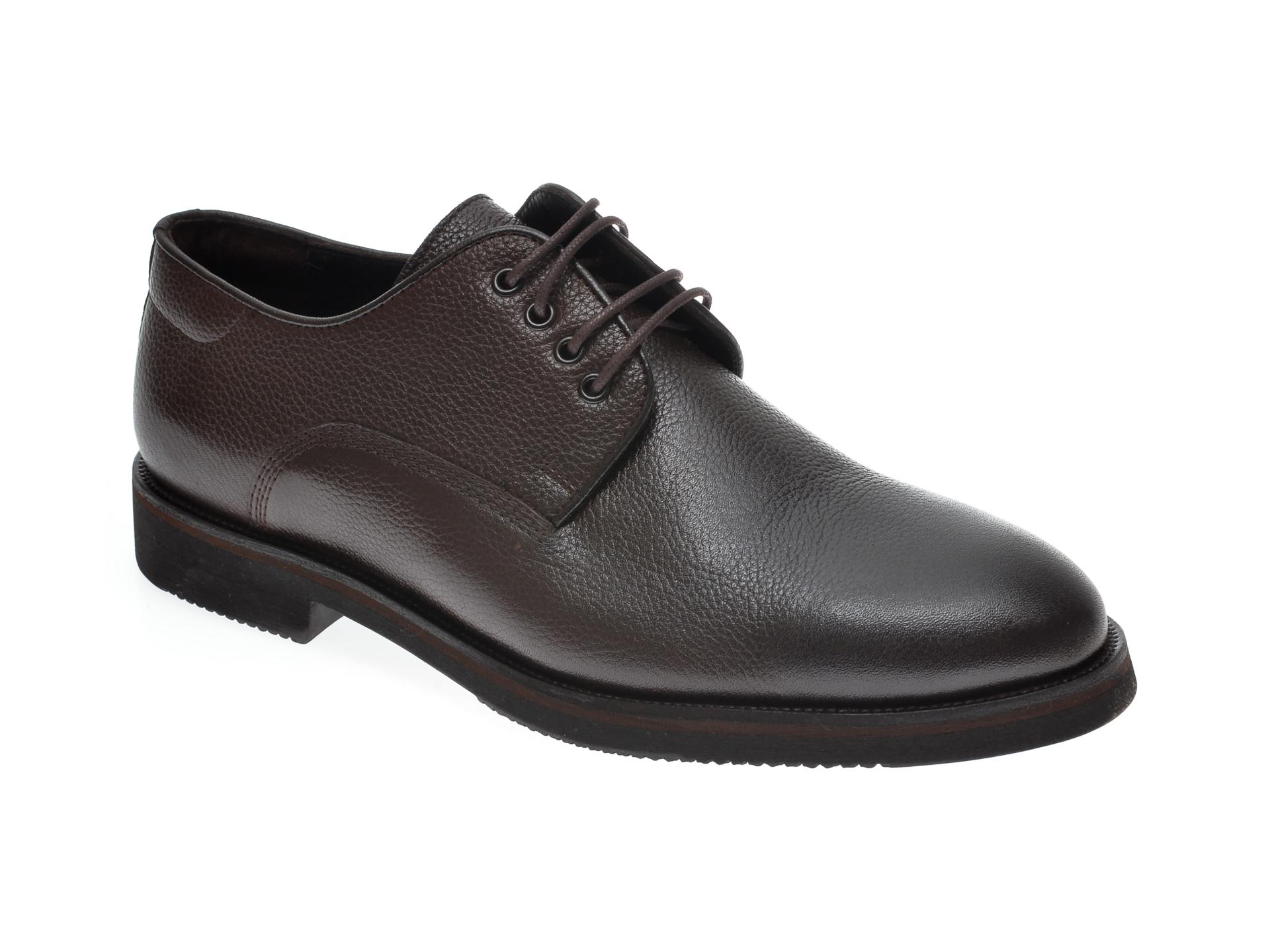 Pantofi OTTER maro, 20KL701, din piele naturala imagine