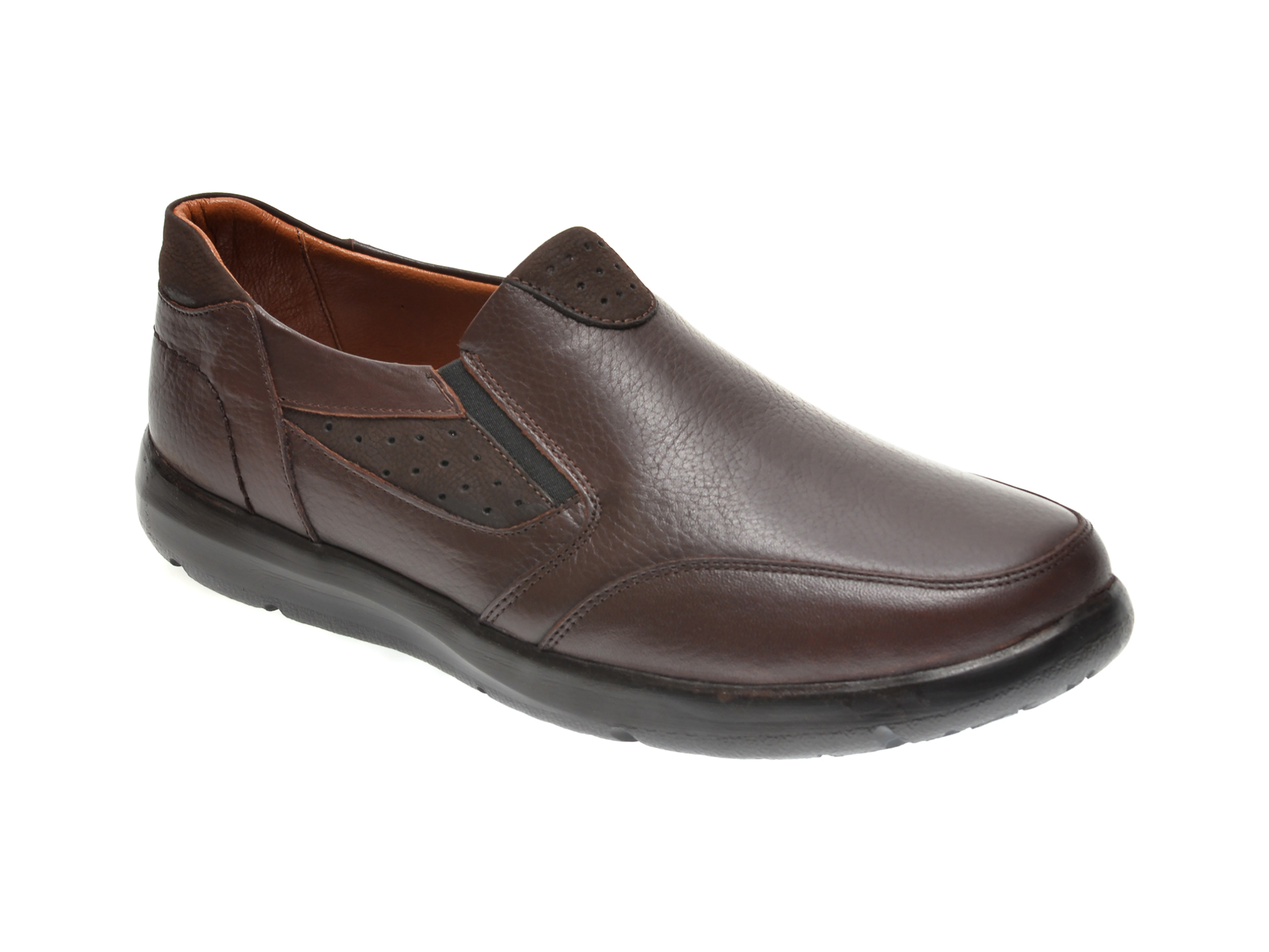 Pantofi OTTER maro, 20N904, din piele naturala imagine