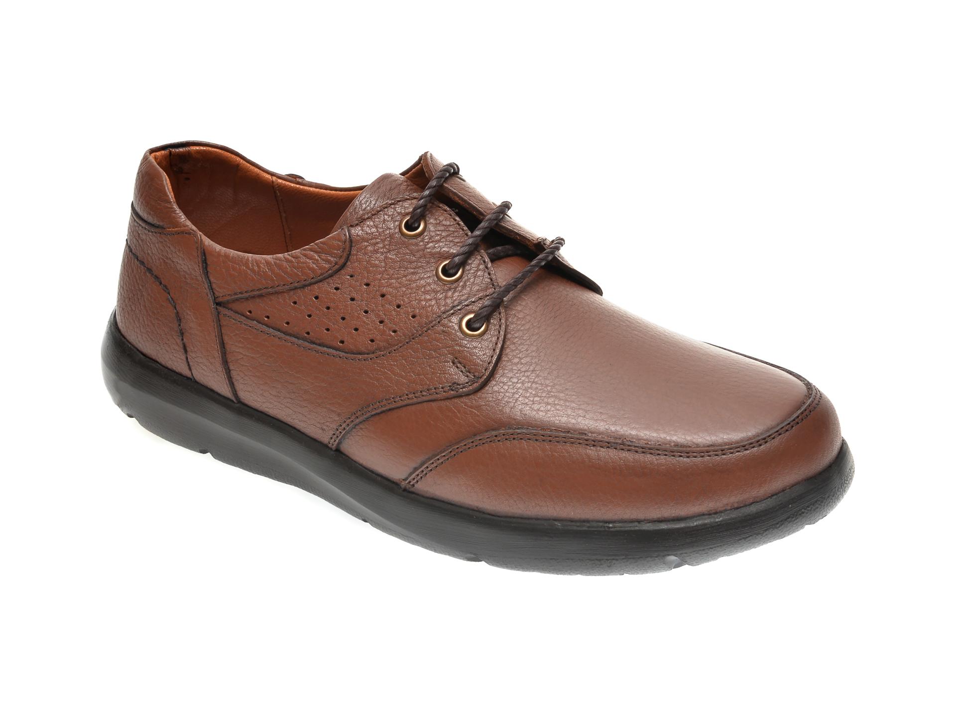 Pantofi OTTER maro, 20N905, din piele naturala imagine