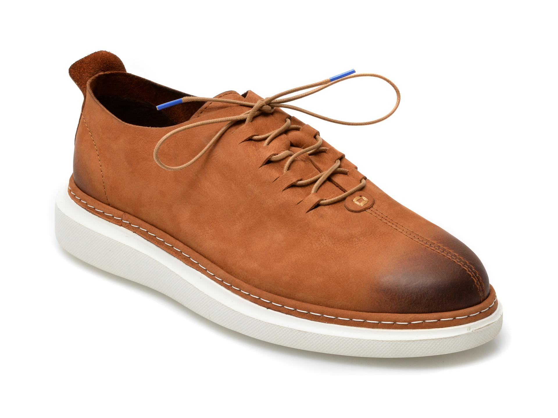 Pantofi OTTER maro, 21KL801, din nabuc