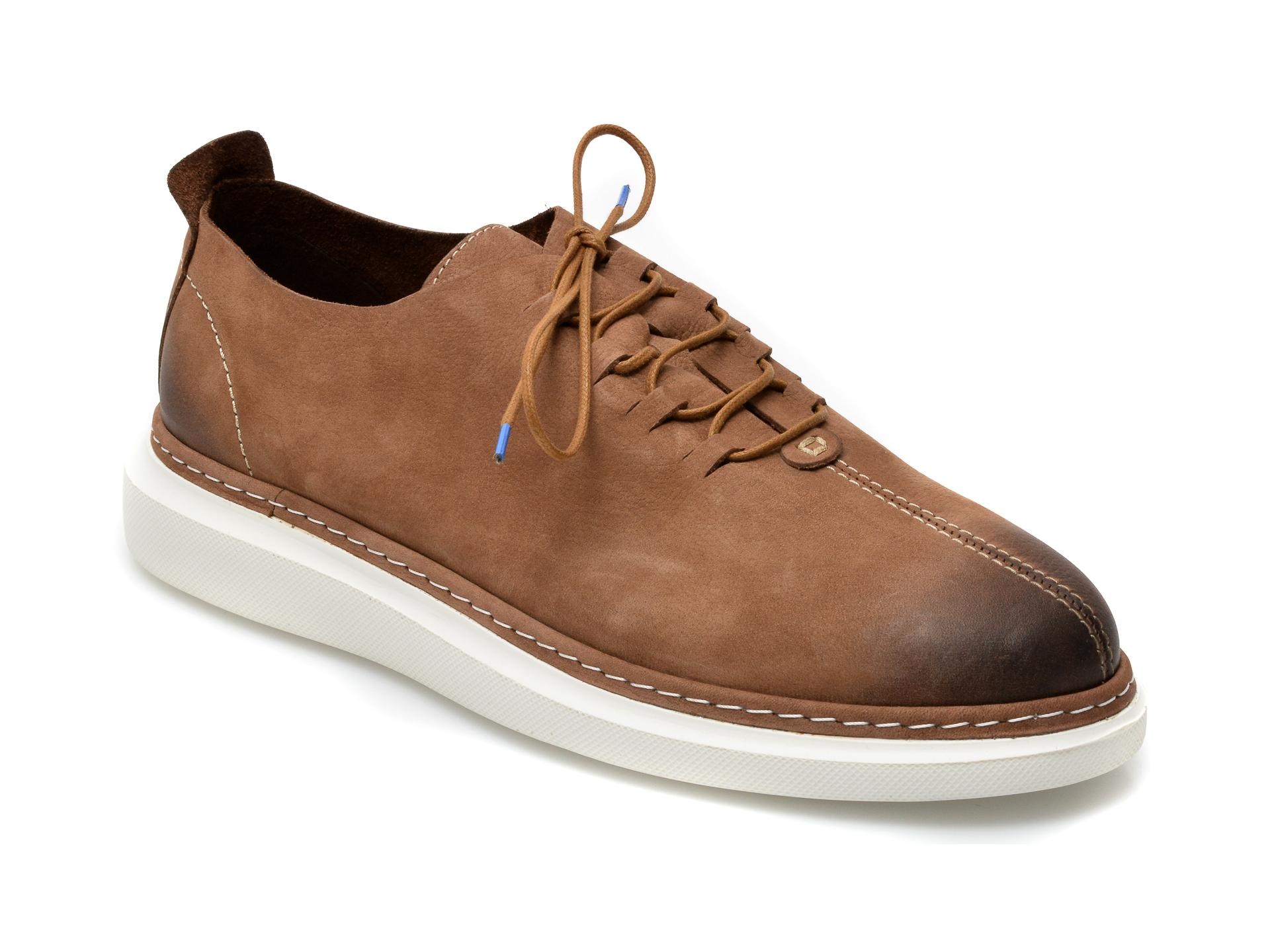 Pantofi OTTER maro, 21KL801, din nabuc imagine otter.ro 2021