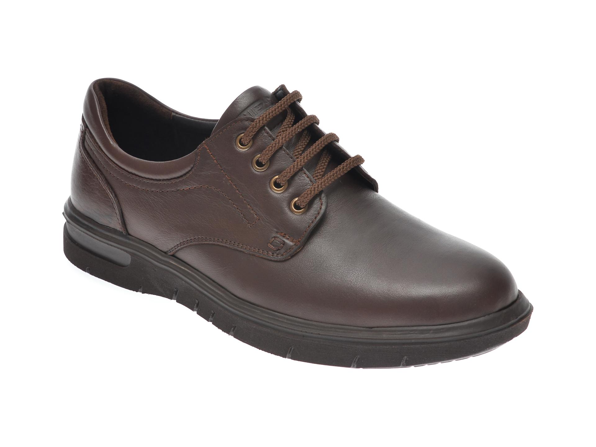 Pantofi OTTER maro, 2804, din piele naturala imagine