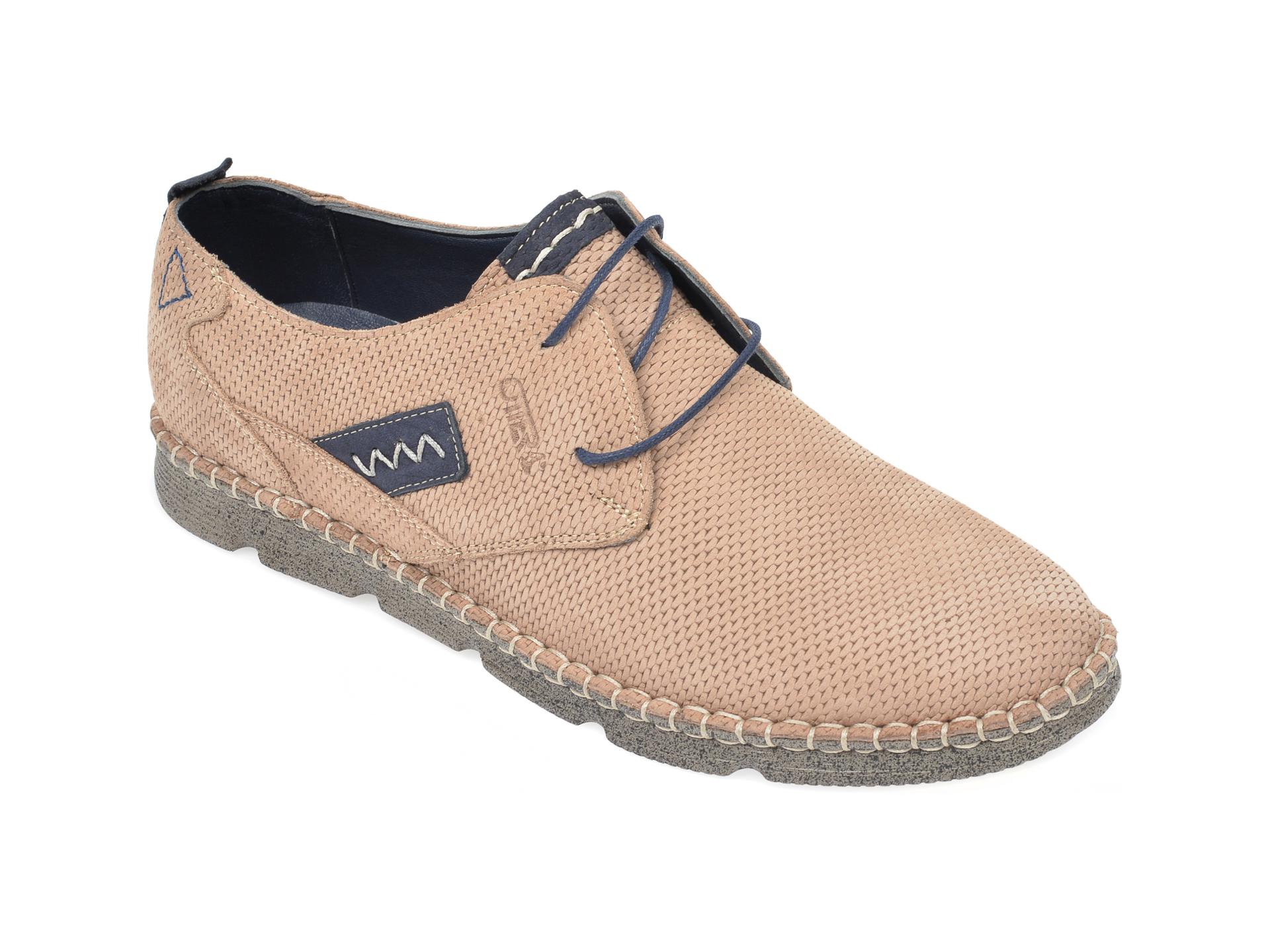 Pantofi OTTER maro, 2818, din nabuc imagine