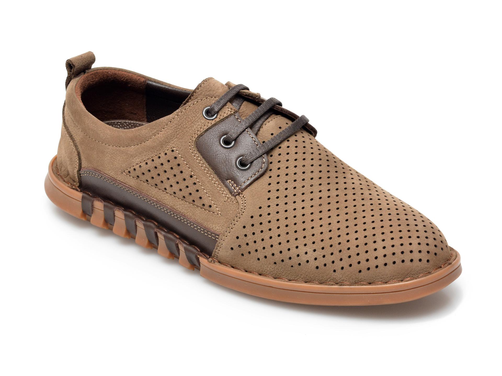 Pantofi OTTER maro, 301707, din nabuc imagine otter.ro 2021
