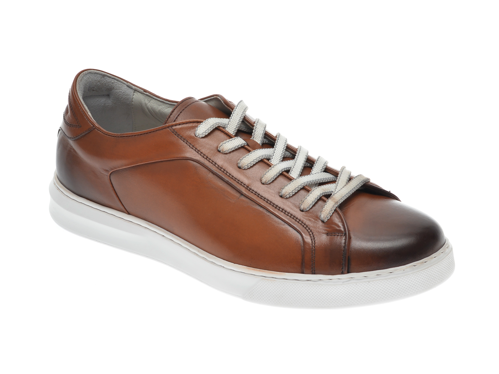 Pantofi OTTER maro, 3384, din piele naturala imagine