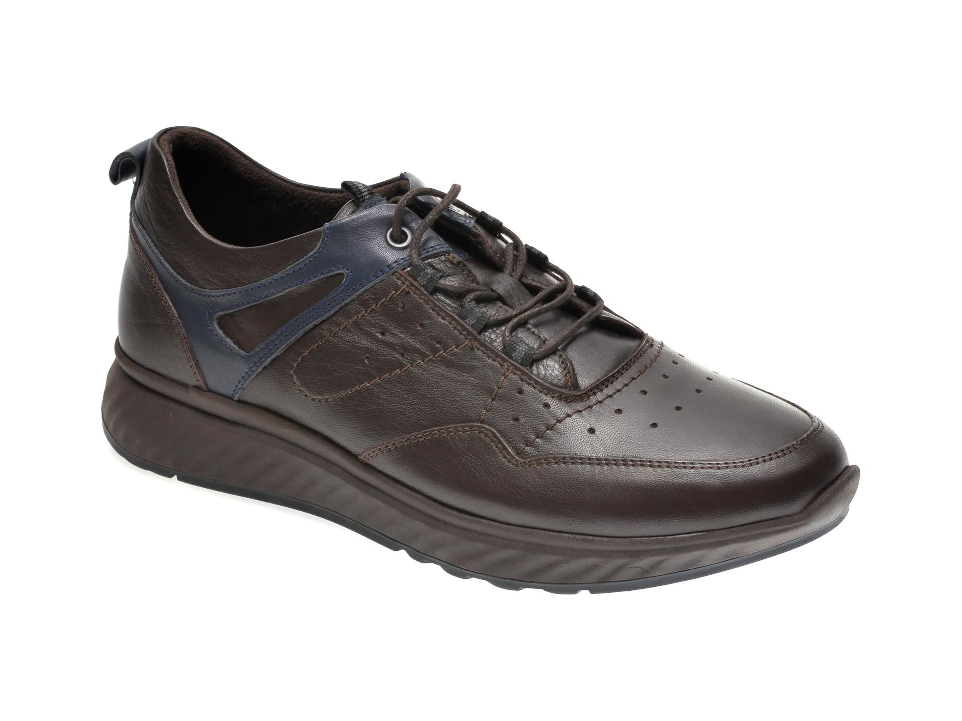 Pantofi OTTER maro, 411, din piele naturala
