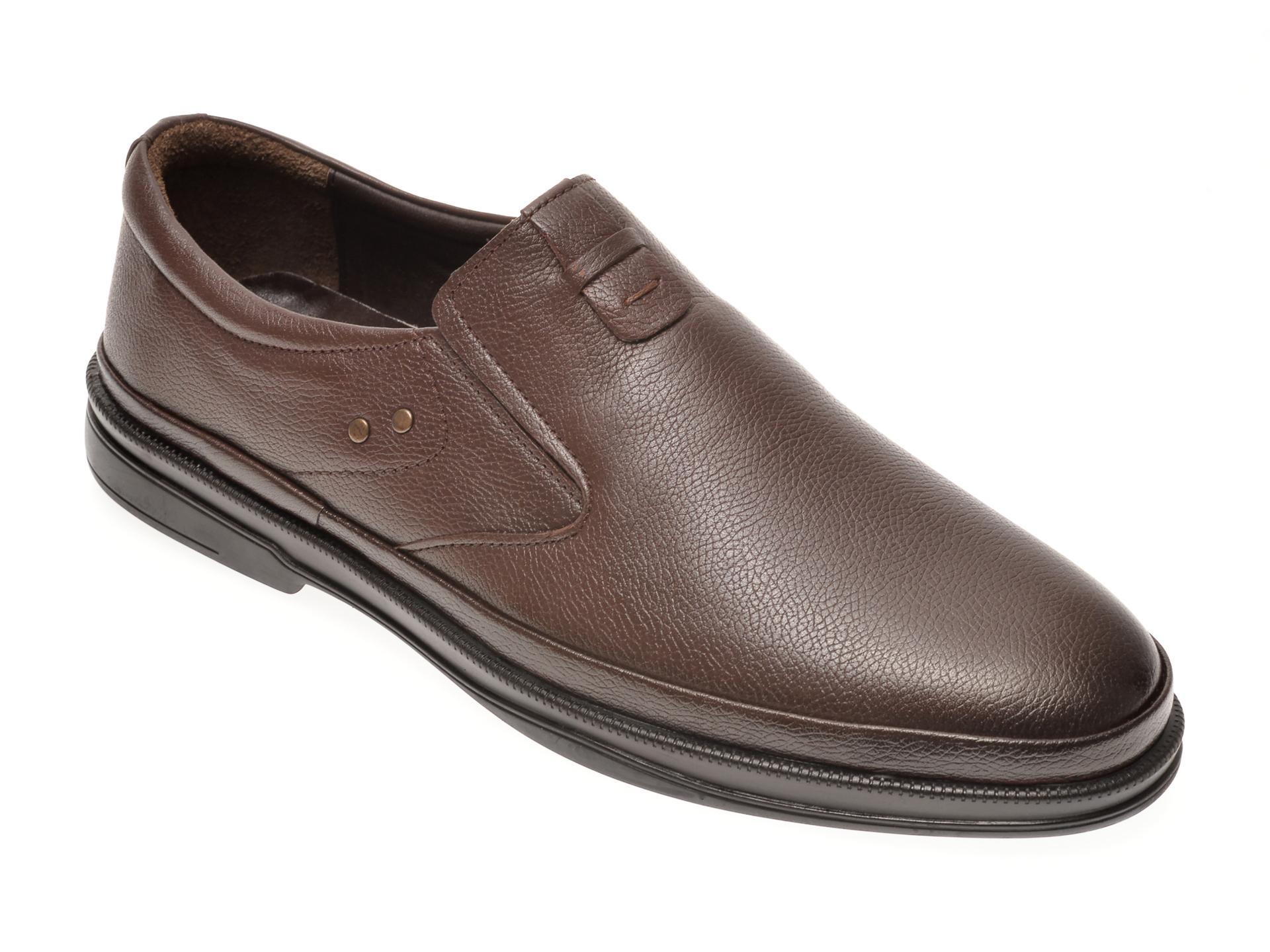 Pantofi OTTER maro, 66401, din piele naturala imagine otter.ro