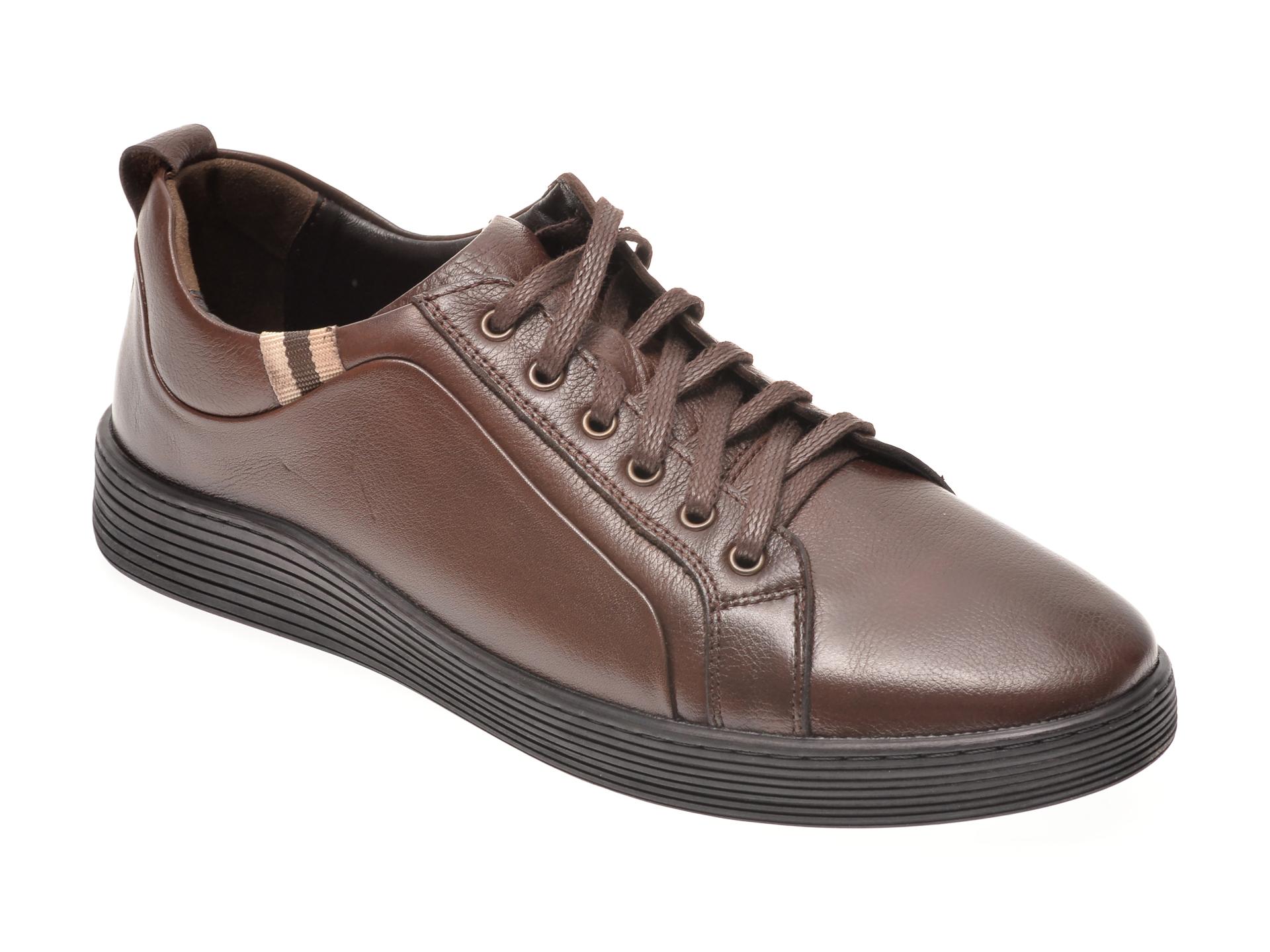 Pantofi OTTER maro, 871, din piele naturala imagine