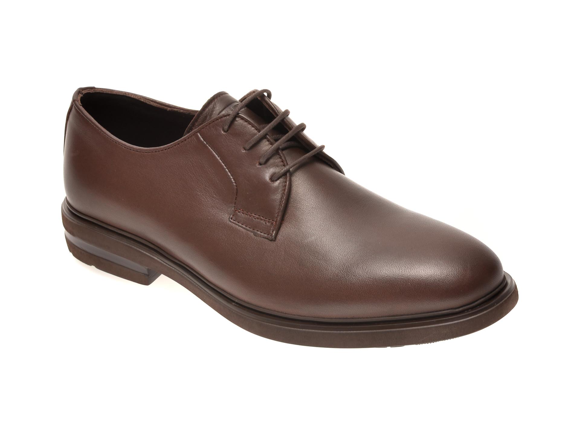 Pantofi OTTER maro, E1801, din piele naturala New