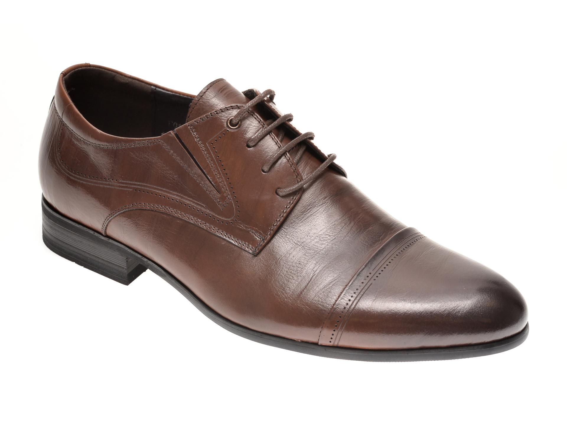 Pantofi OTTER maro, F01891, din piele naturala imagine