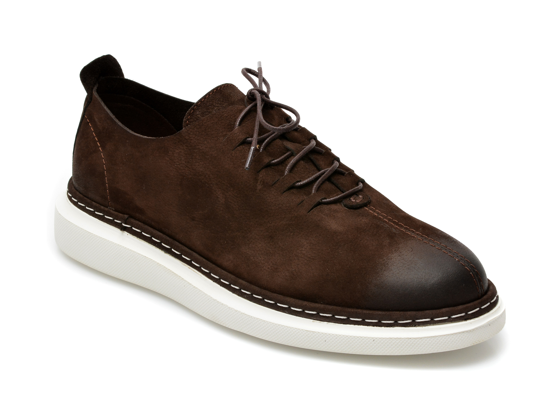 Pantofi OTTER maro inchis, 21KL801, din nabuc imagine otter.ro 2021