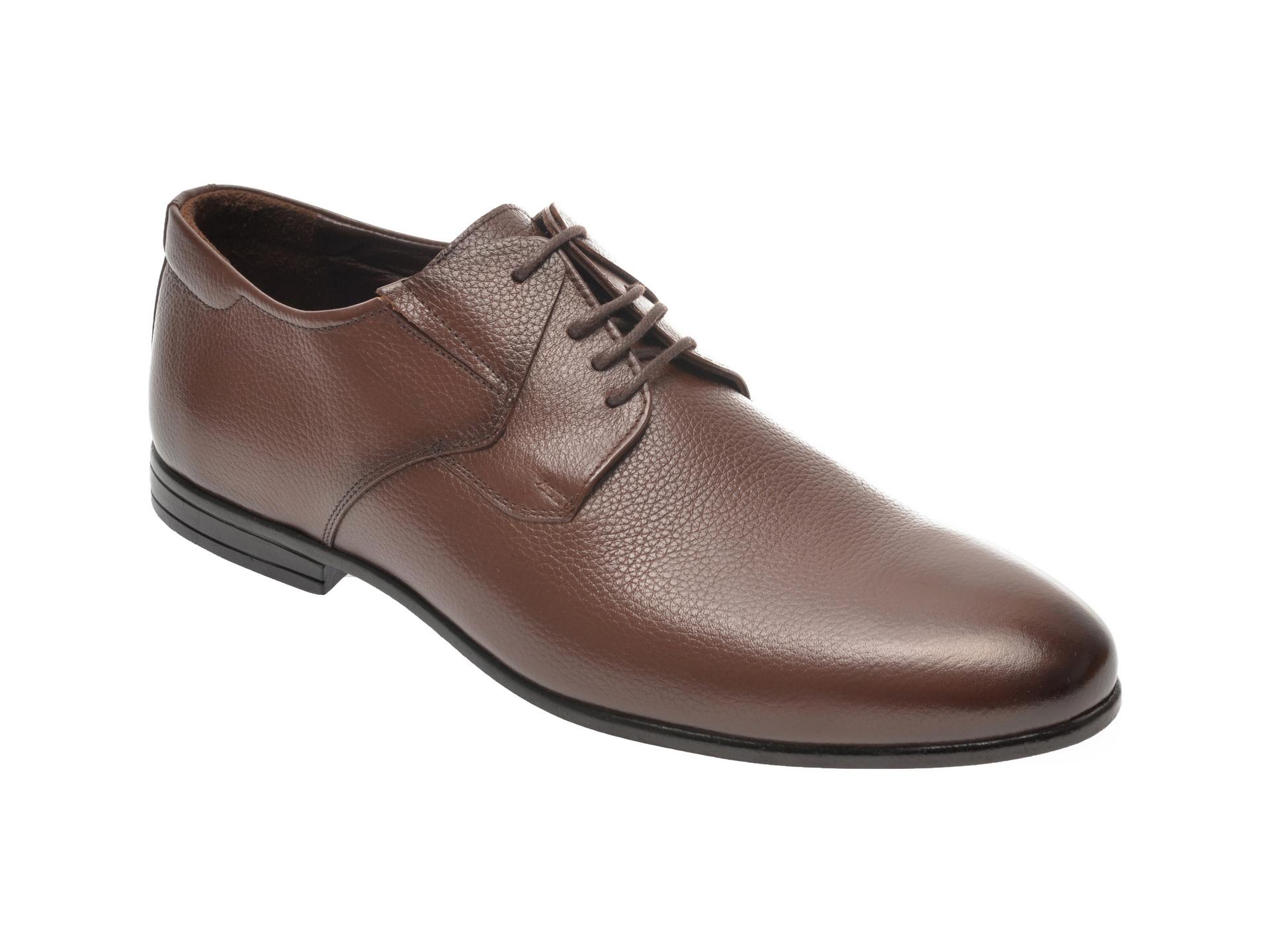 Pantofi OTTER maro, K33, din piele naturala imagine