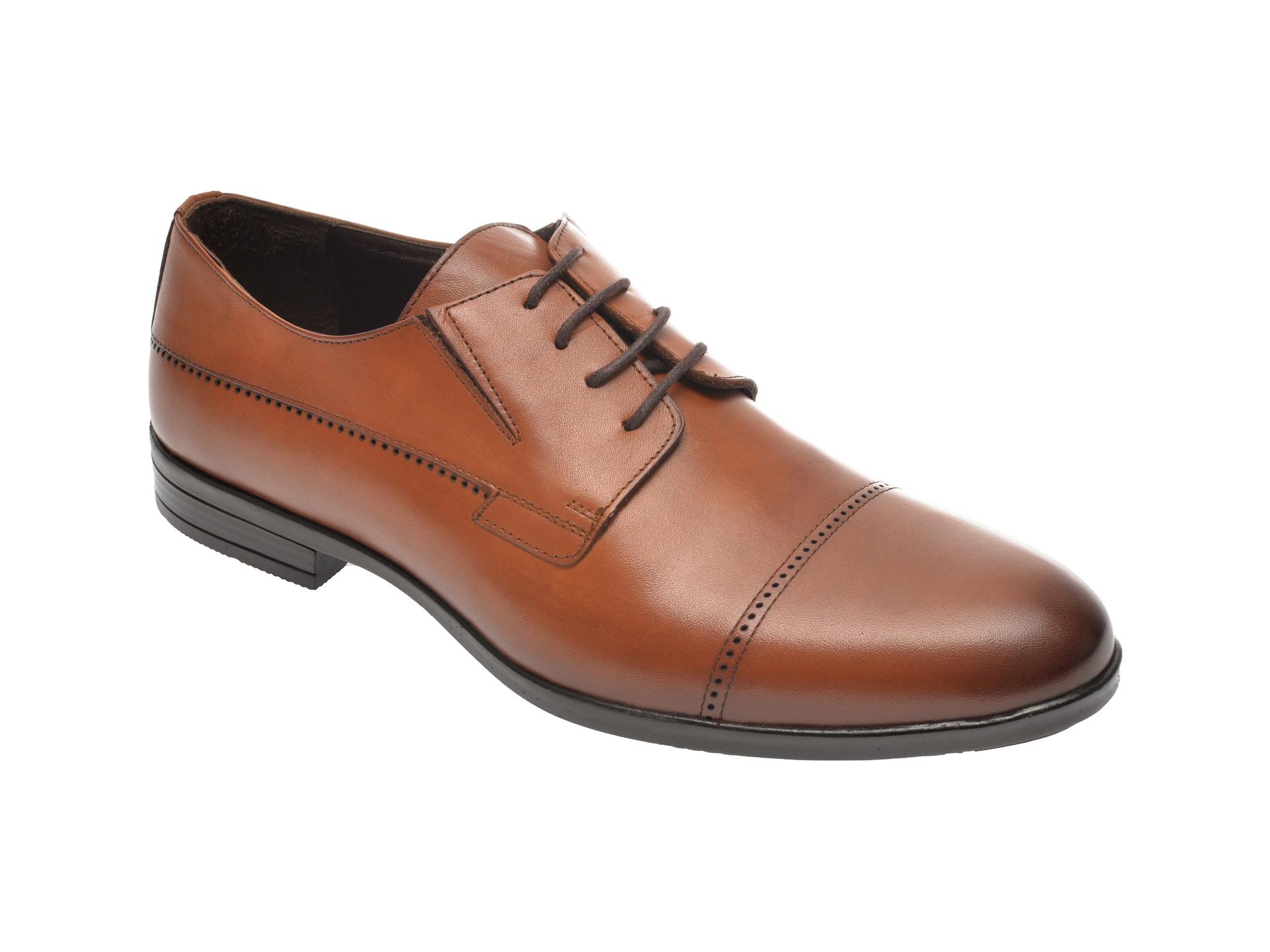 Pantofi OTTER maro, K34, din piele naturala imagine