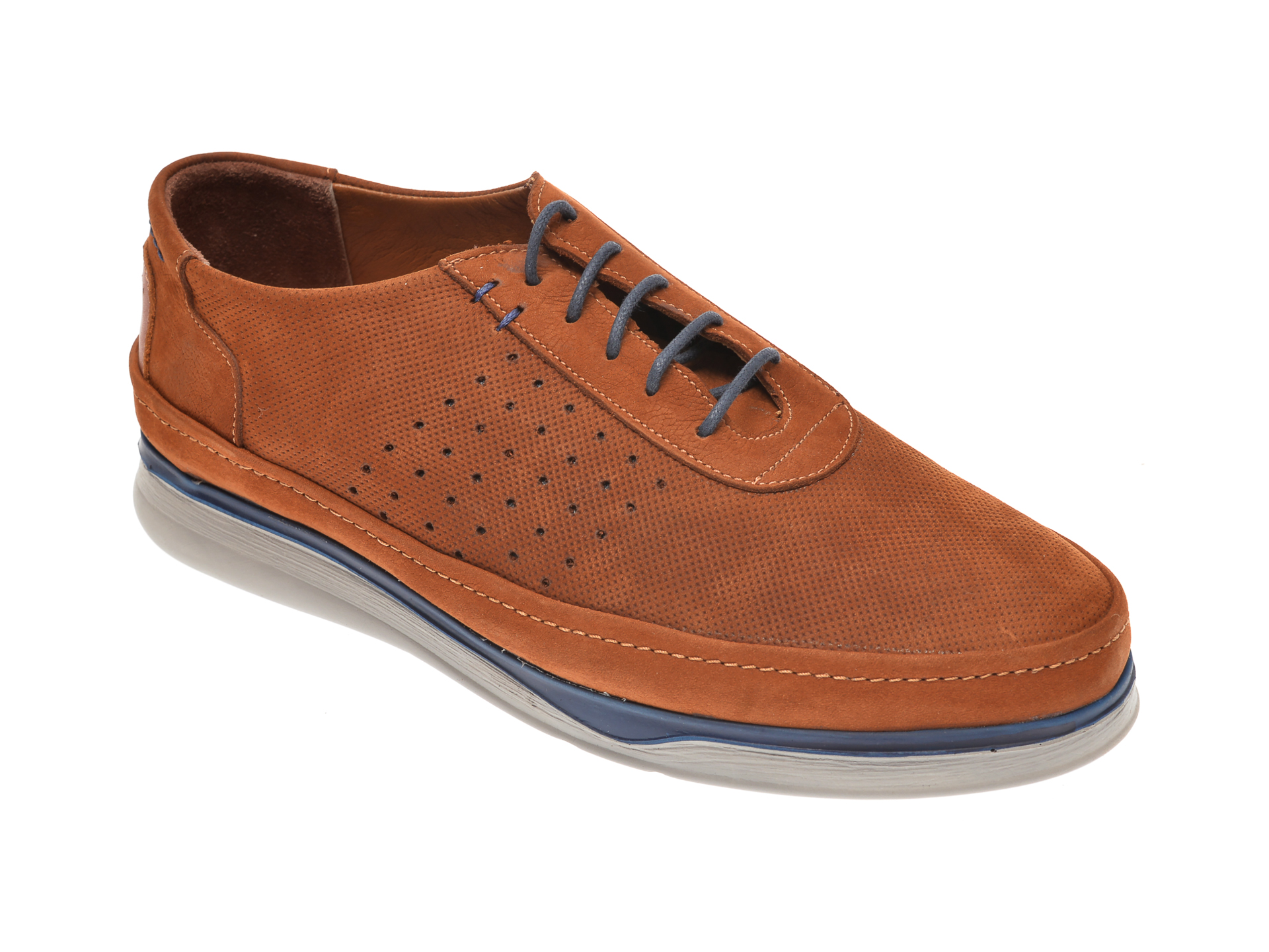 Pantofi OTTER maro, M5580, din nabuc imagine