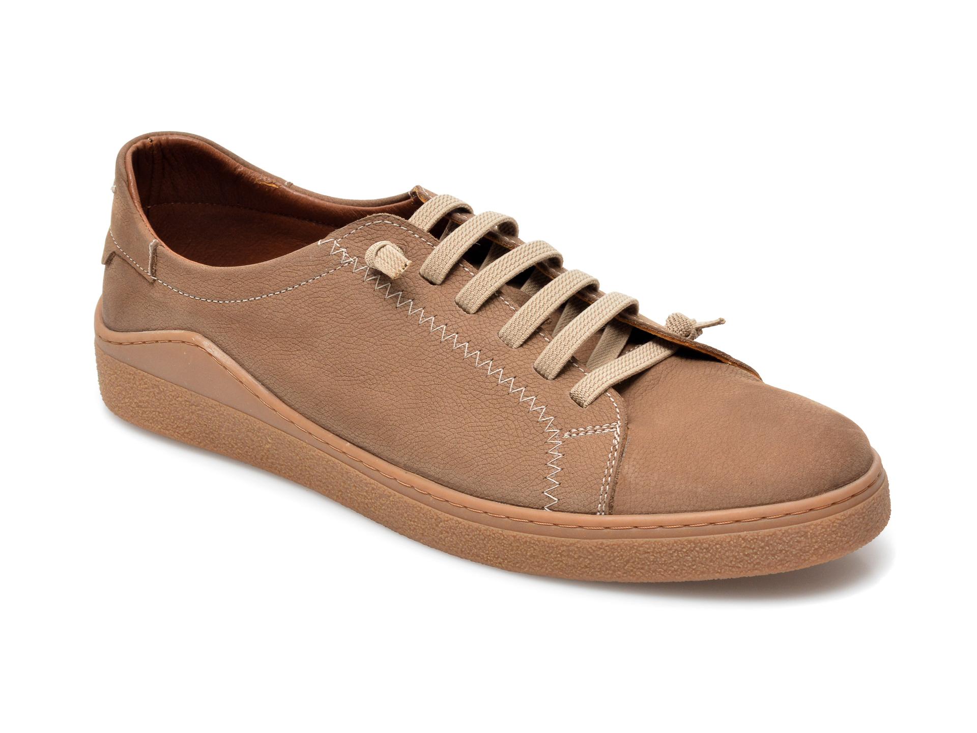 Pantofi OTTER maro, M5607, din nabuc imagine otter.ro