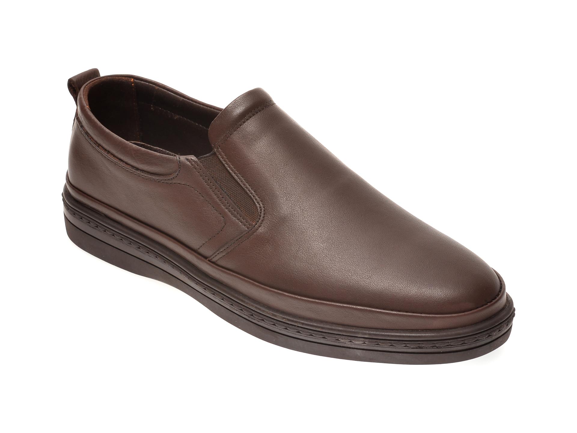 Pantofi OTTER maro, M5741, din piele naturala imagine