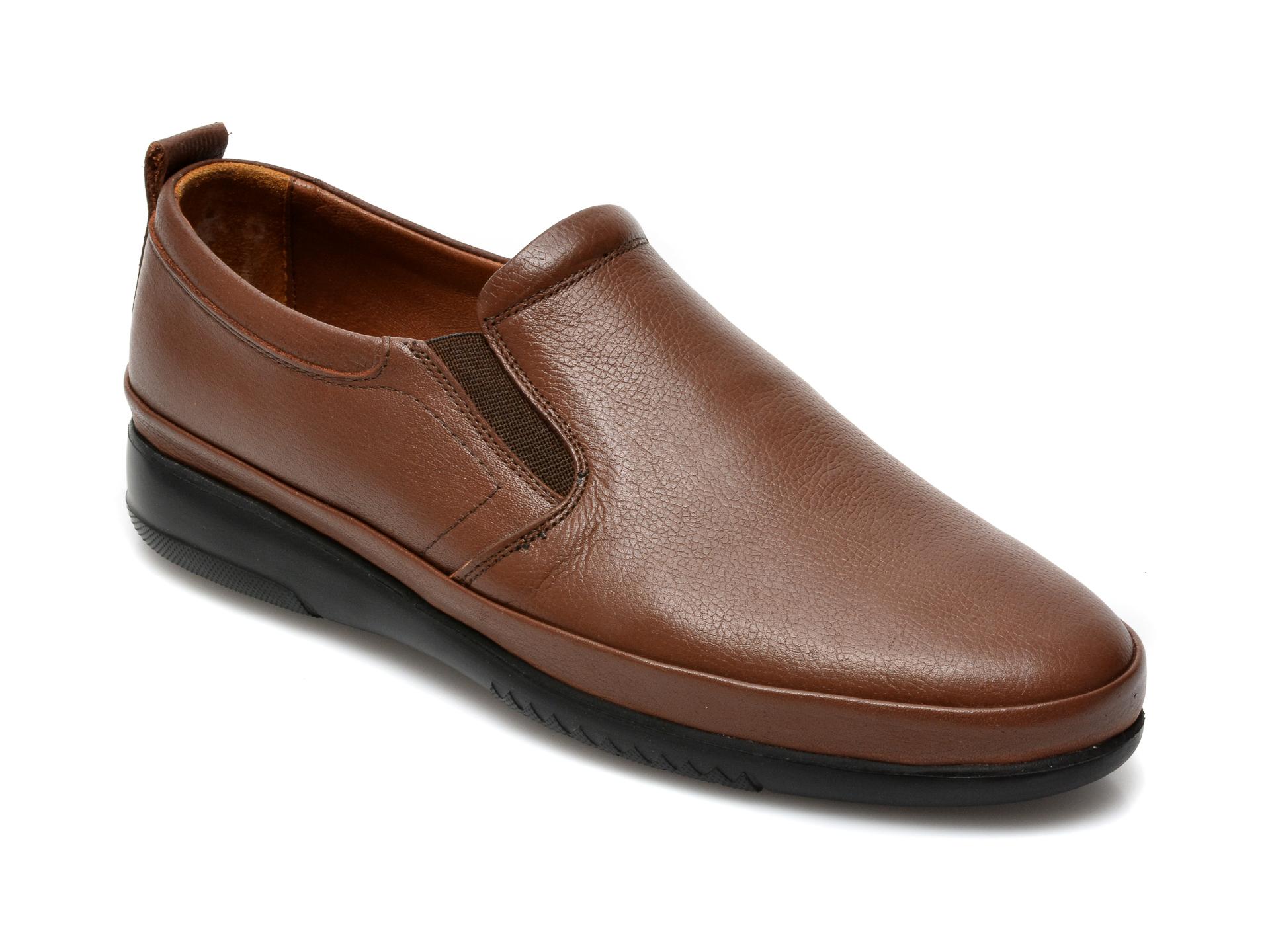 Pantofi OTTER maro, M5741, din piele naturala imagine otter.ro 2021