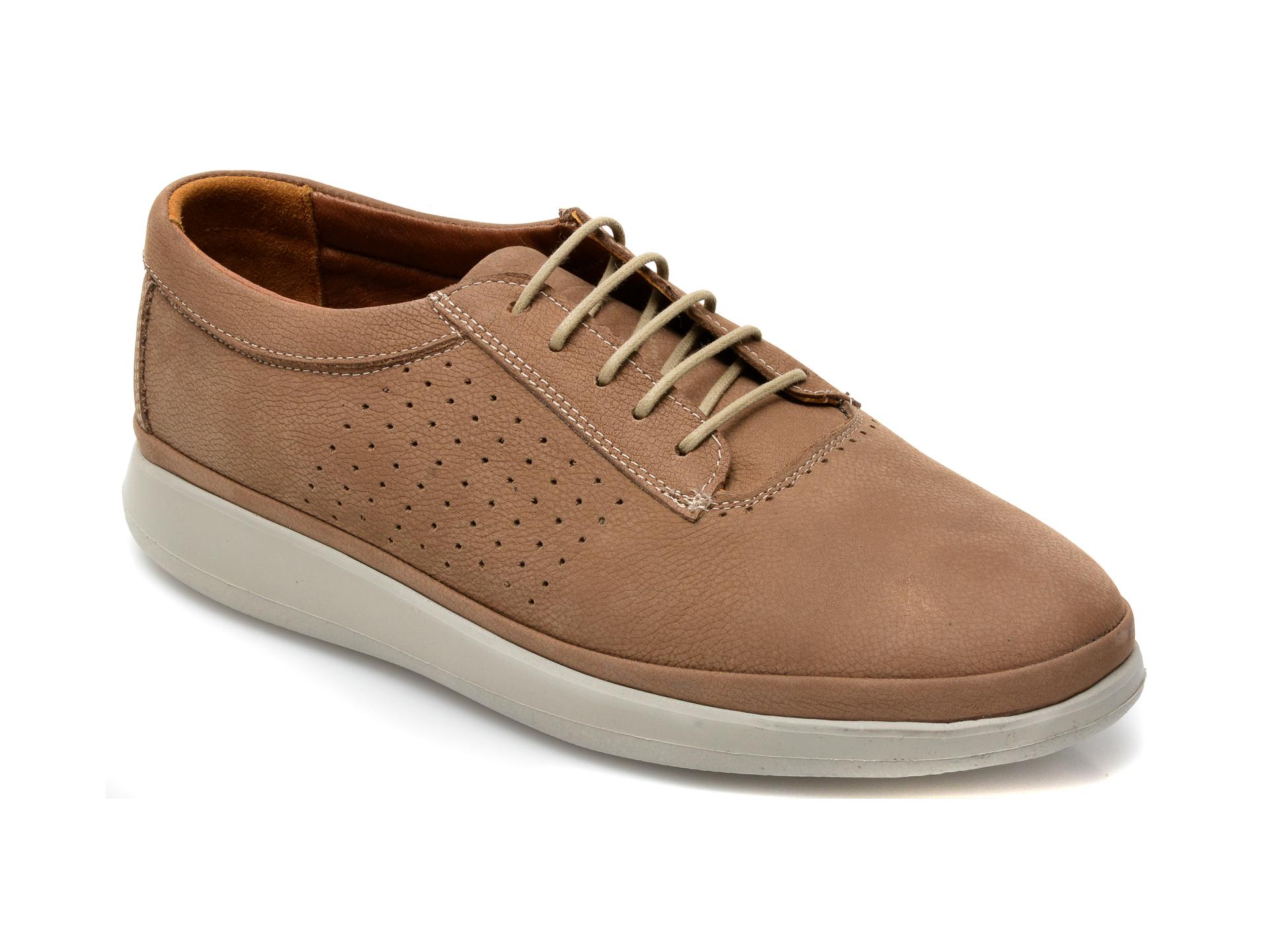 Pantofi OTTER maro, M6001, din nabuc imagine otter.ro 2021
