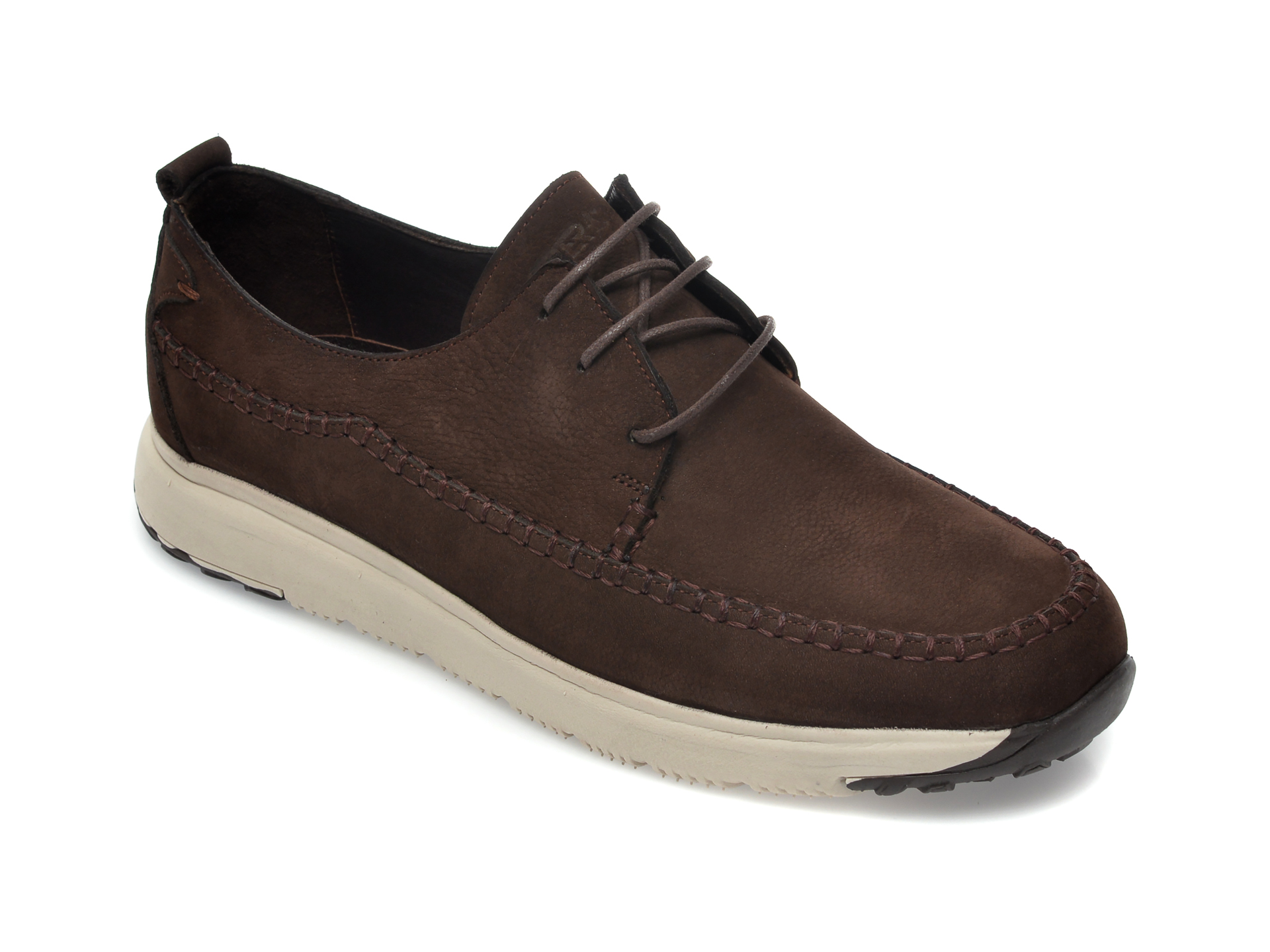 Pantofi OTTER maro, SF200, din nabuc imagine
