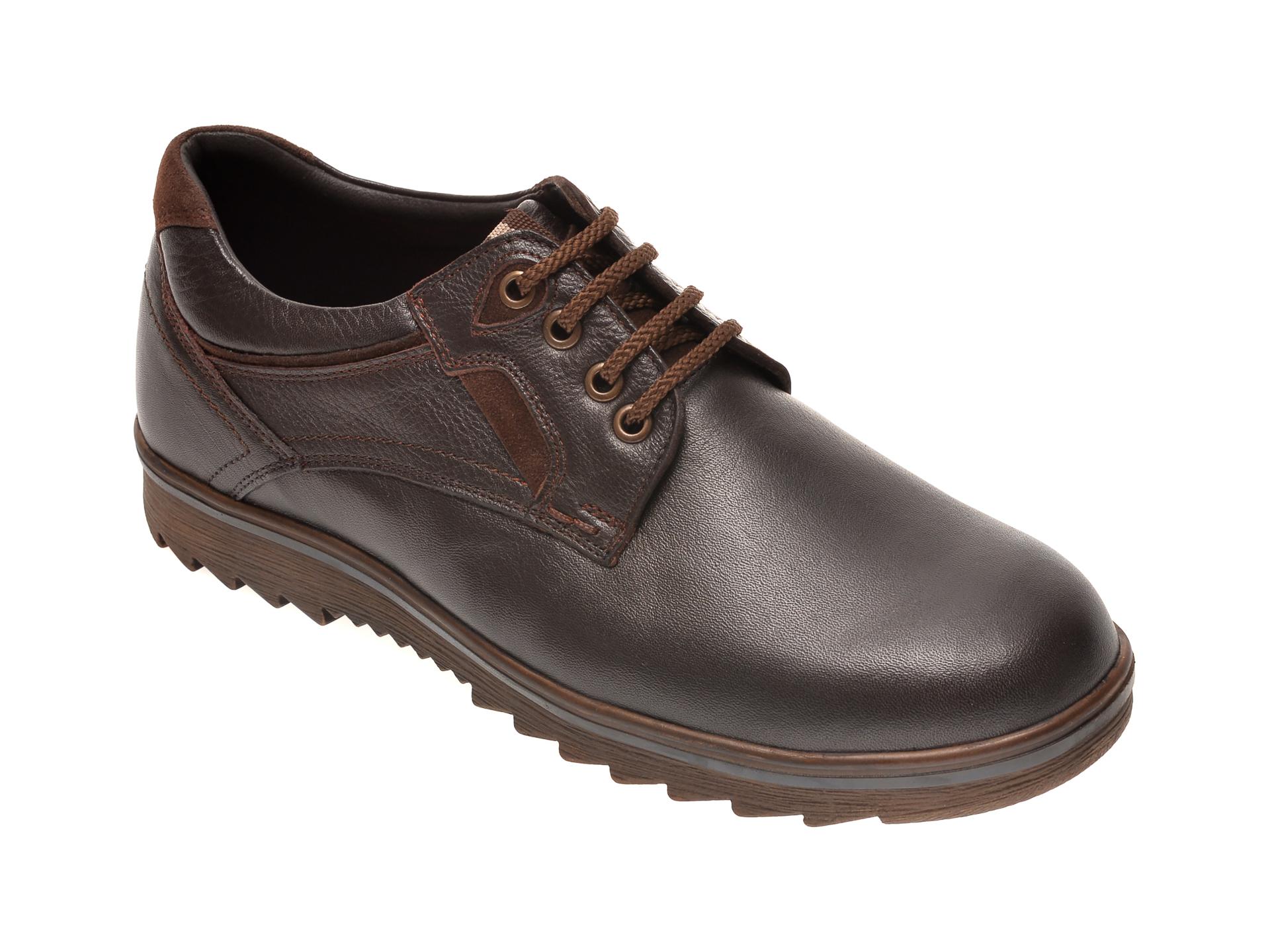 Pantofi OTTER maro, T4, din piele naturala imagine otter.ro