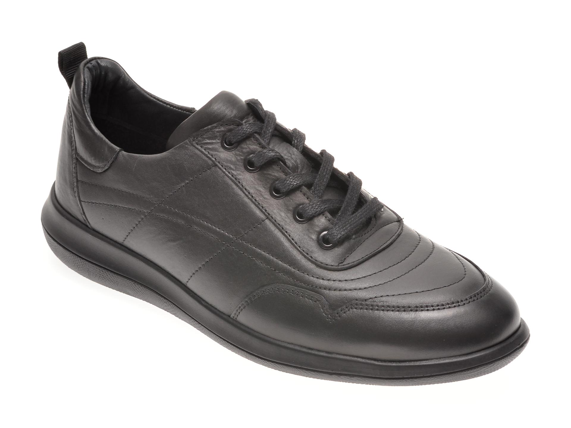 Pantofi OTTER negri, 180609, din piele naturala New