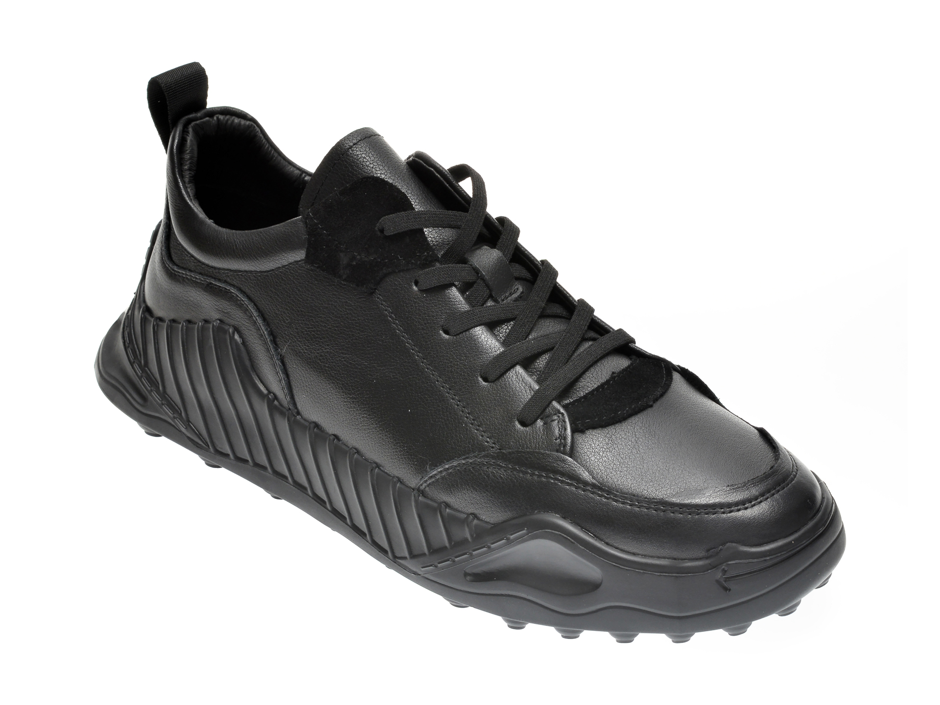 Pantofi OTTER negri, 190191, din piele naturala imagine