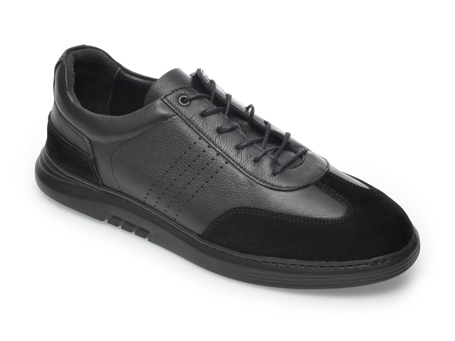 Pantofi OTTER negri, 2024, din piele naturala New