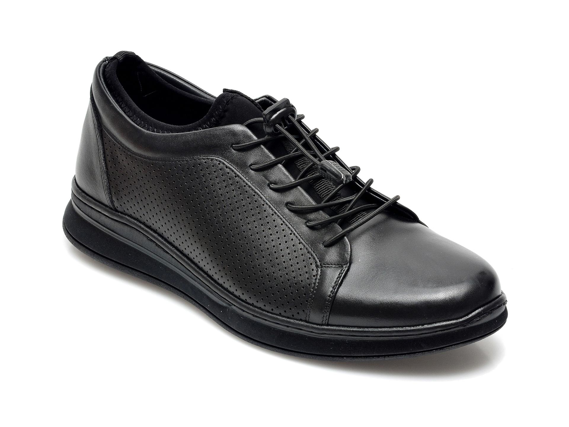 Pantofi OTTER negri, 2047, din piele naturala imagine otter.ro 2021