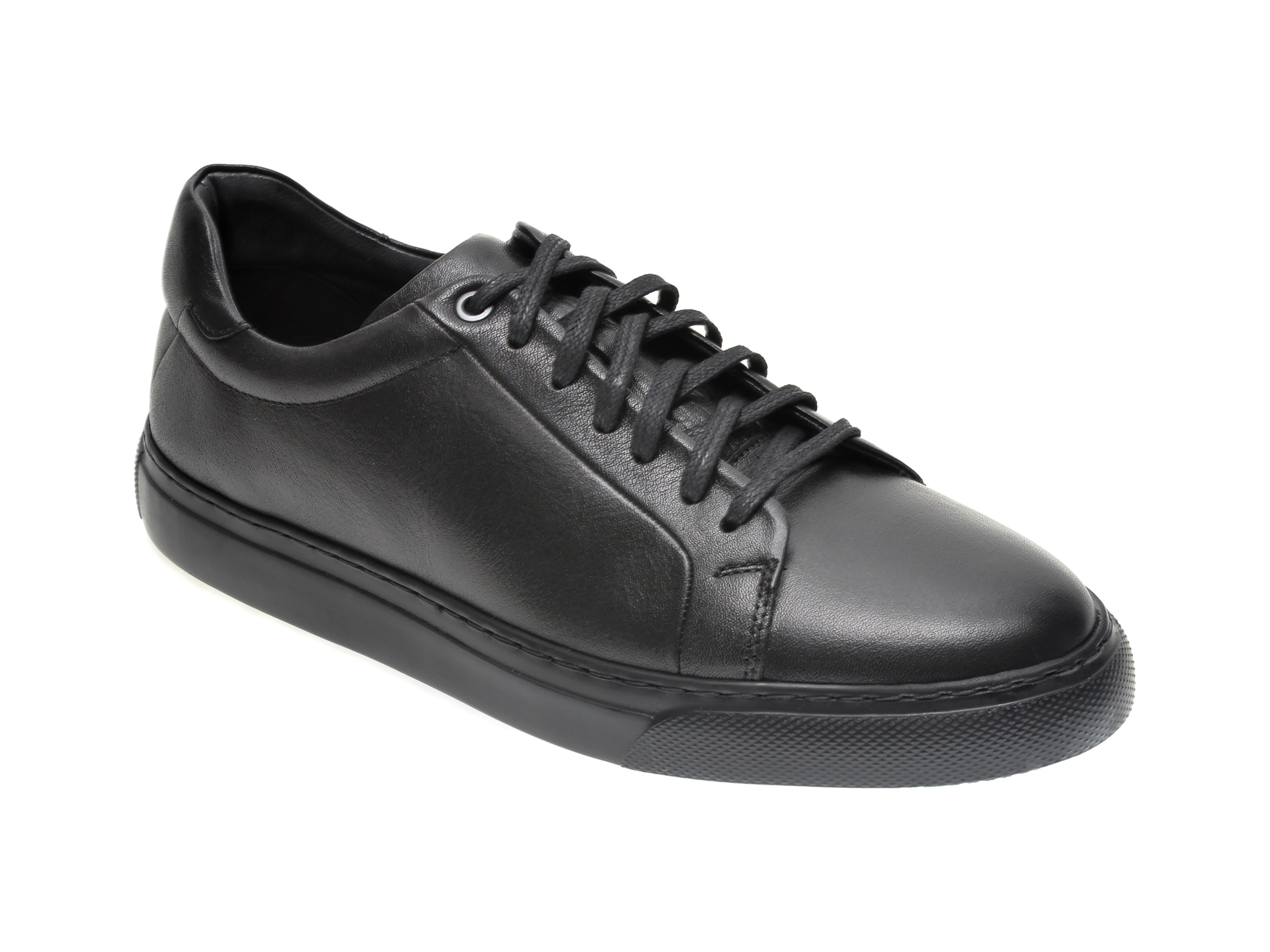 Pantofi OTTER negri, 20BF302, din piele naturala New
