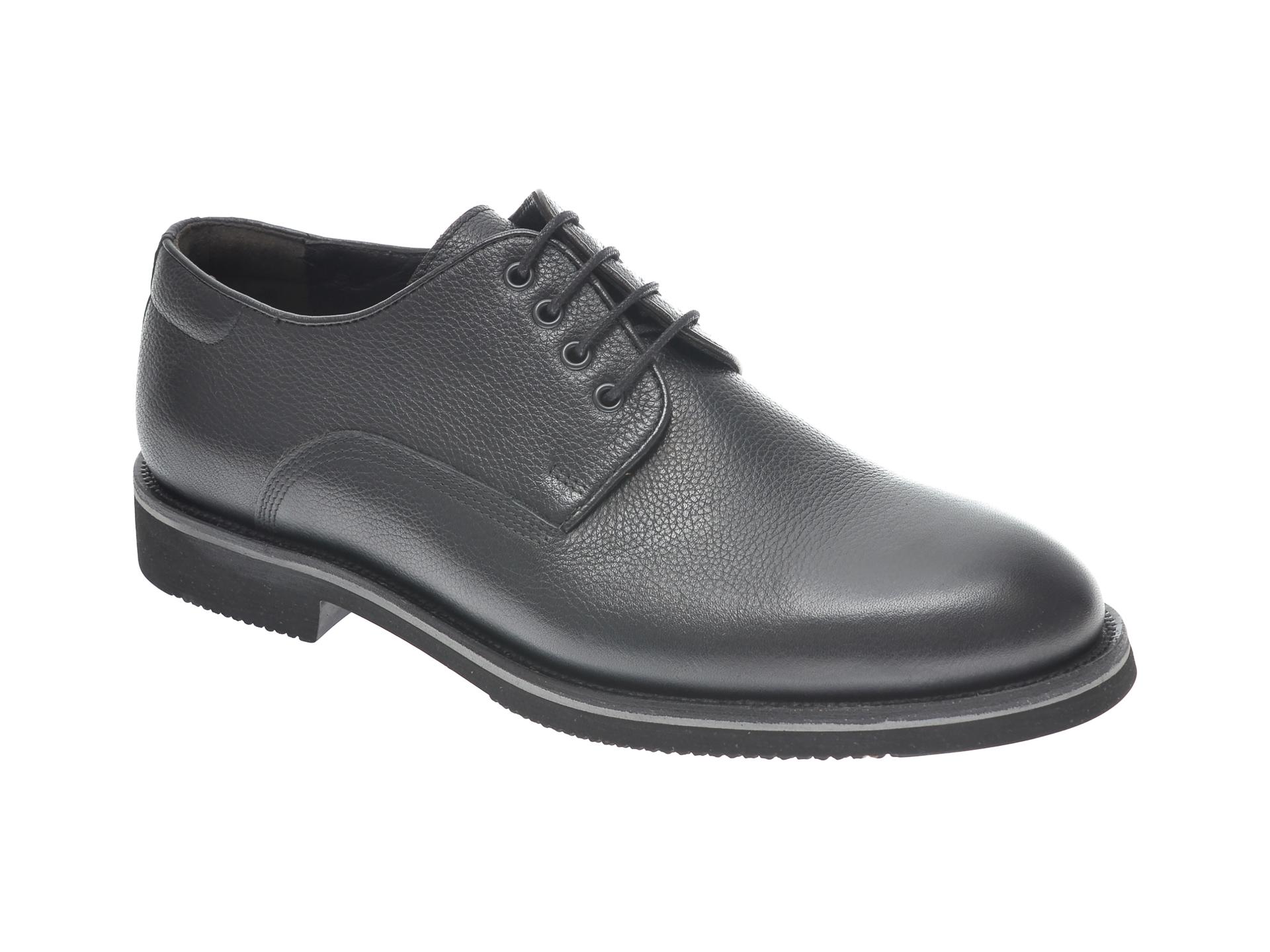 Pantofi OTTER negri, 20KL701, din piele naturala imagine