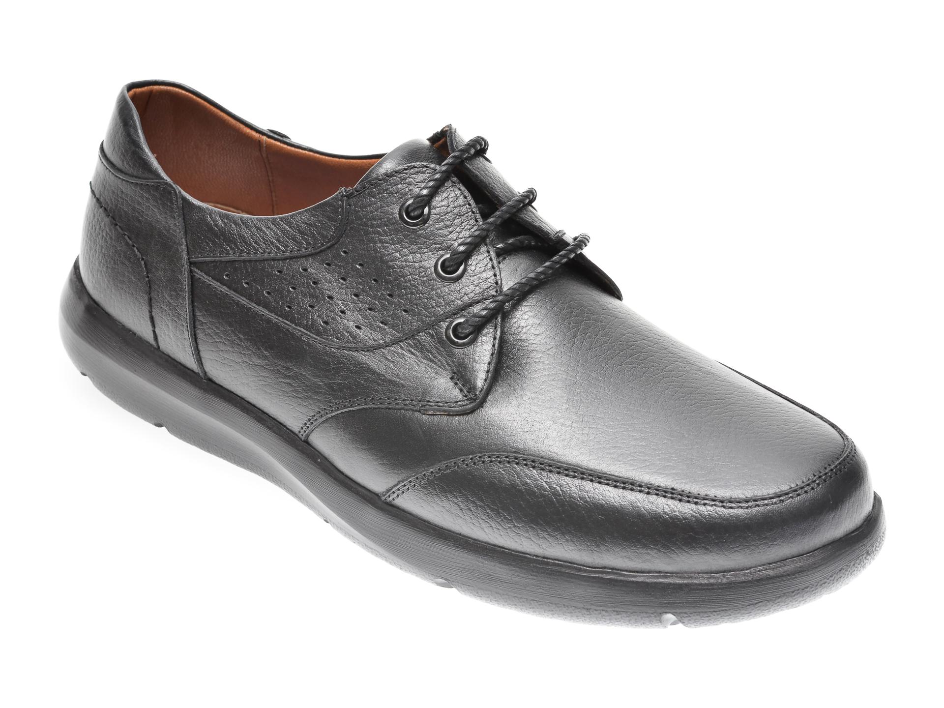 Pantofi OTTER negri, 20N905, din piele naturala imagine