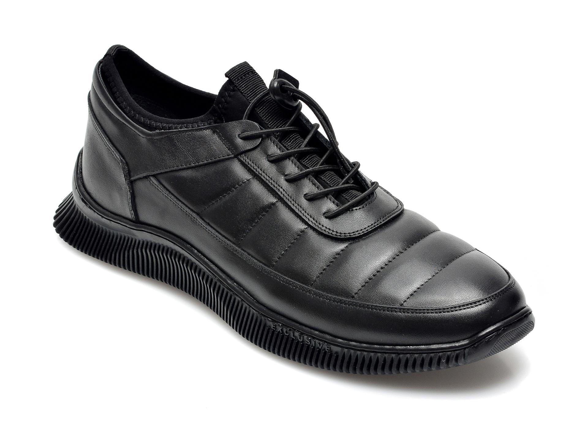 Pantofi OTTER negri, 2139, din piele naturala imagine otter.ro