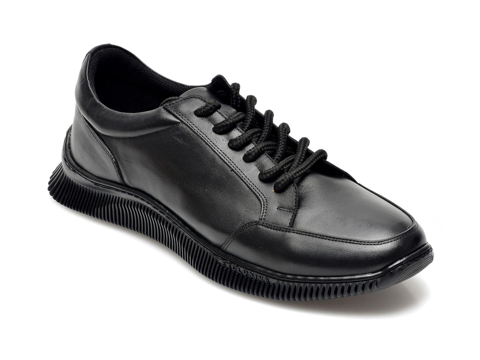 Pantofi OTTER negri, 2143, din piele naturala imagine otter.ro 2021