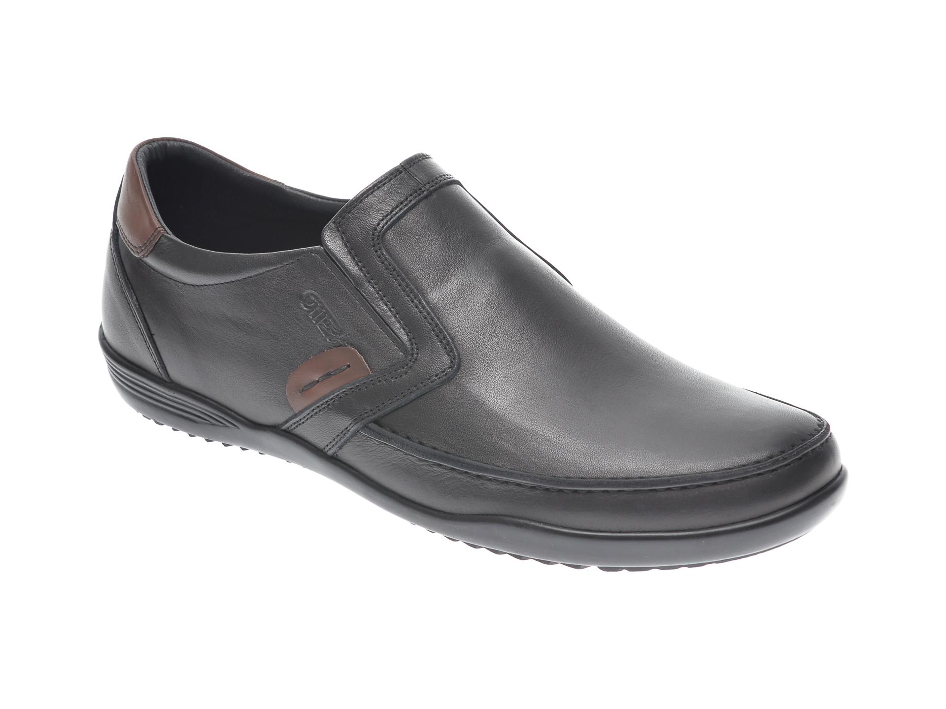 Pantofi OTTER negri, 220, din piele naturala New