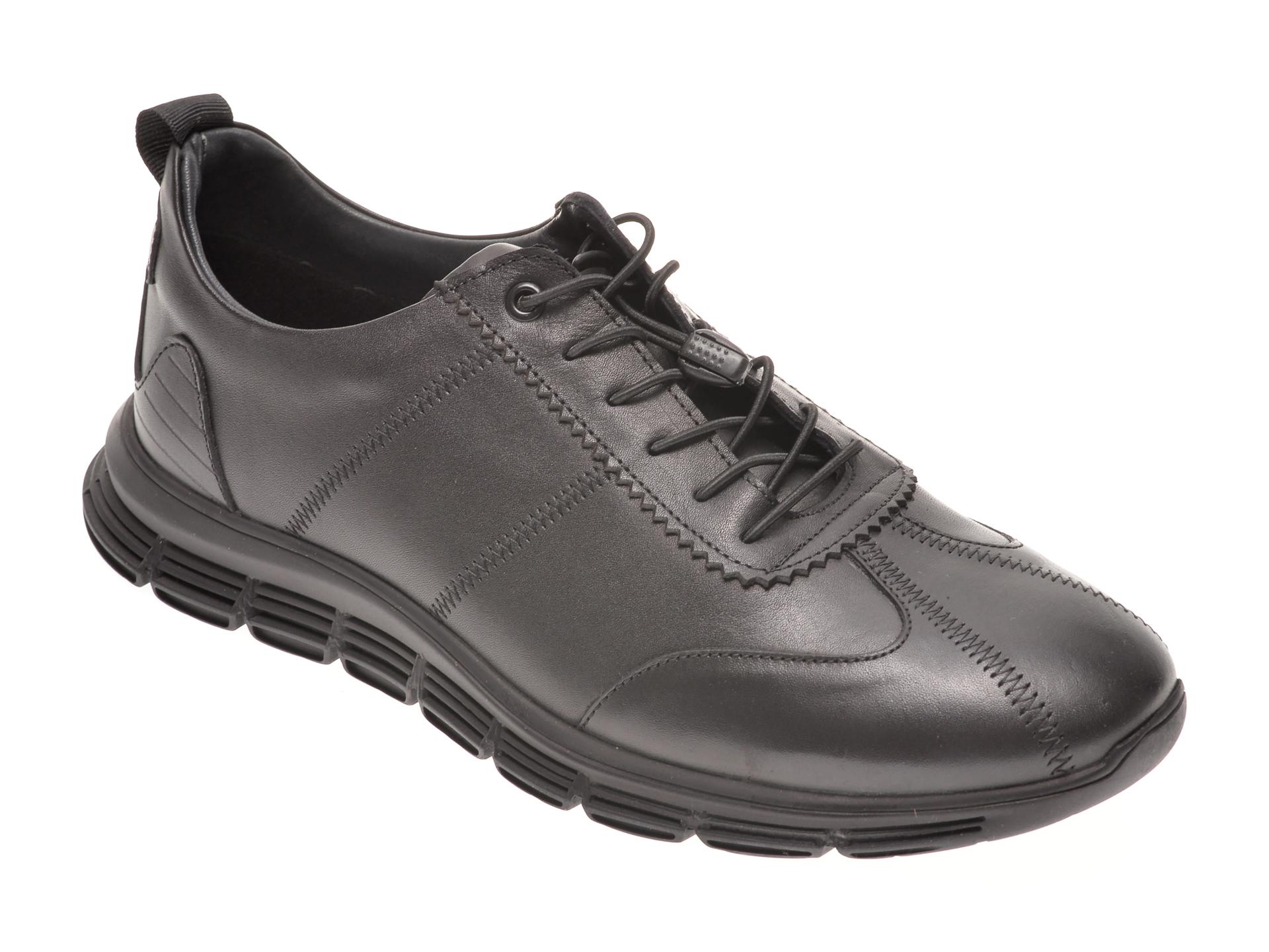 Pantofi OTTER negri, 22502, din piele naturala imagine