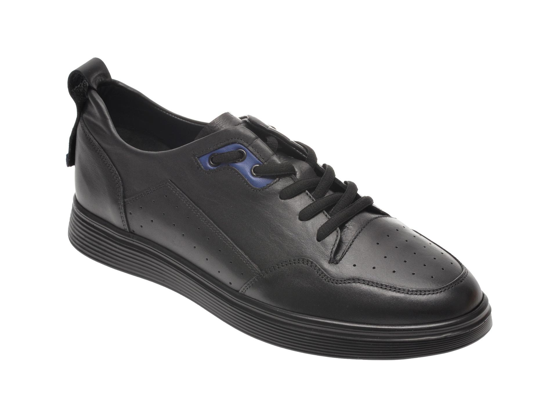 Pantofi OTTER negri, 24101, din piele naturala imagine