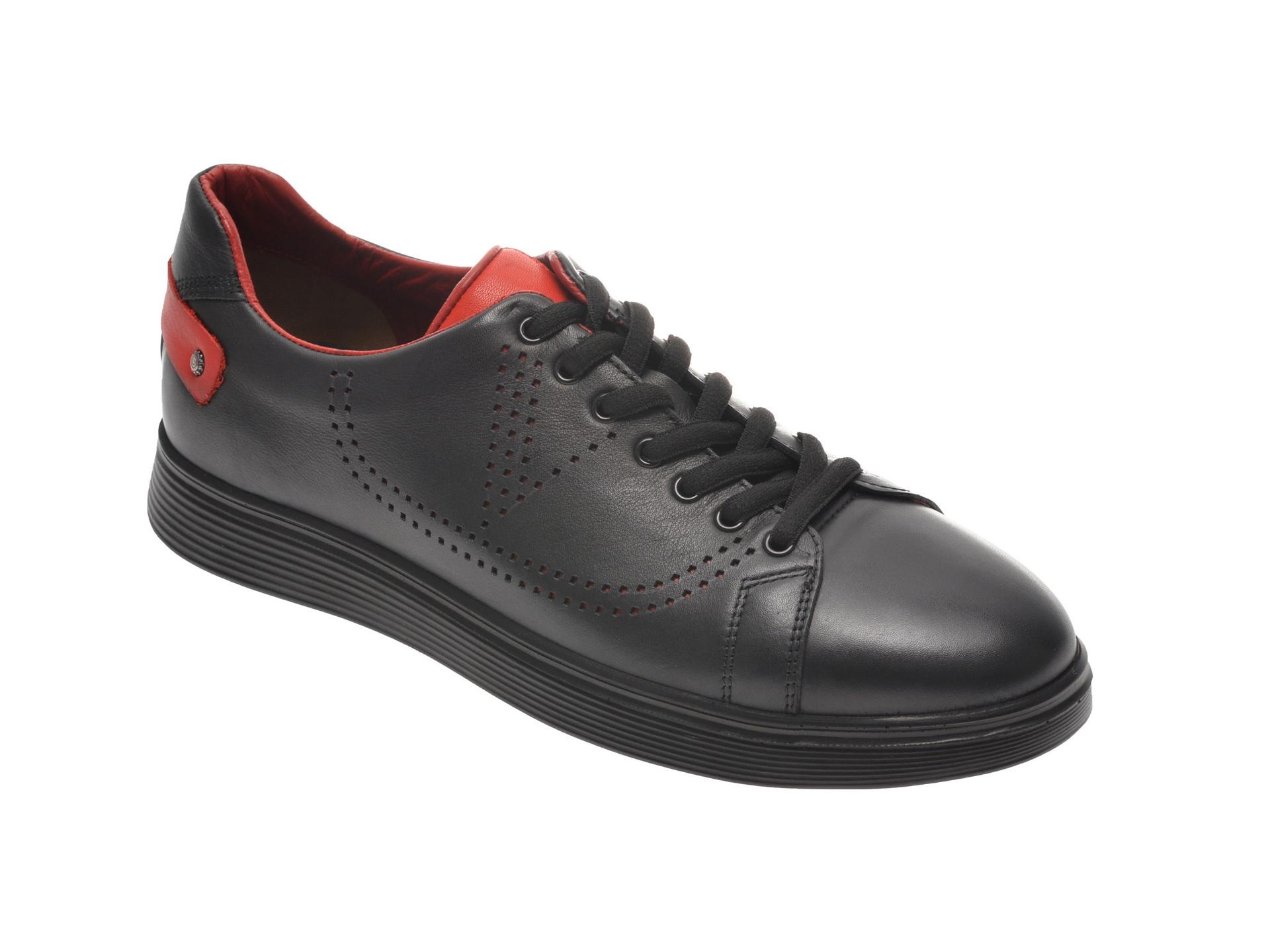 Pantofi OTTER negri, 24103, din piele naturala imagine