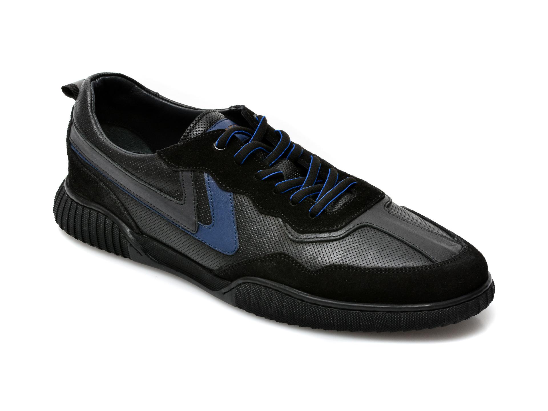 Pantofi OTTER negri, 24201, din piele naturala imagine otter.ro