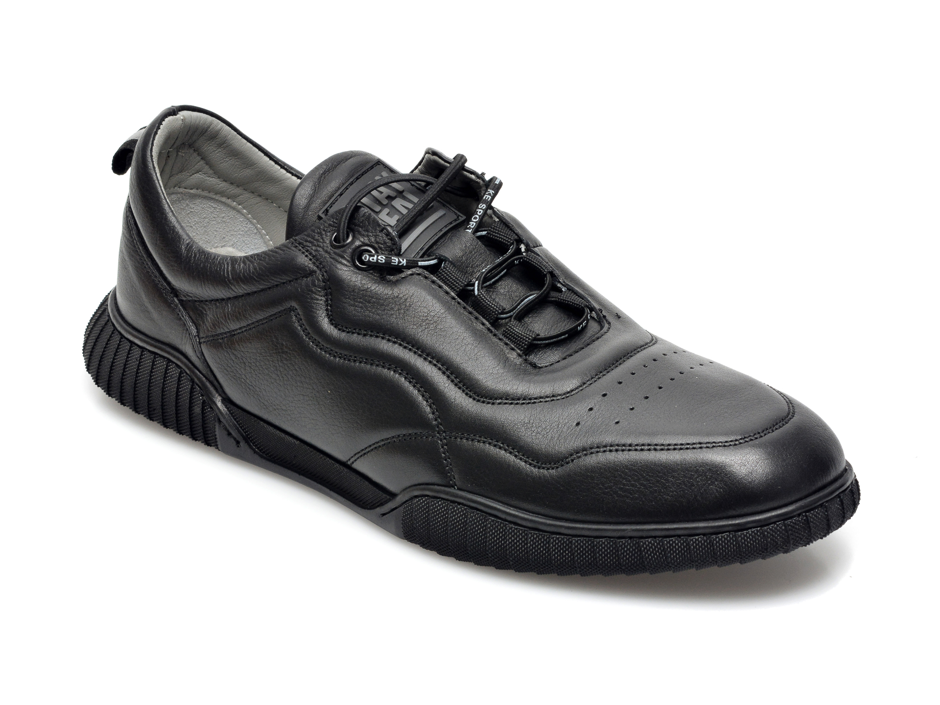 Pantofi OTTER negri, 24204, din piele naturala imagine otter.ro