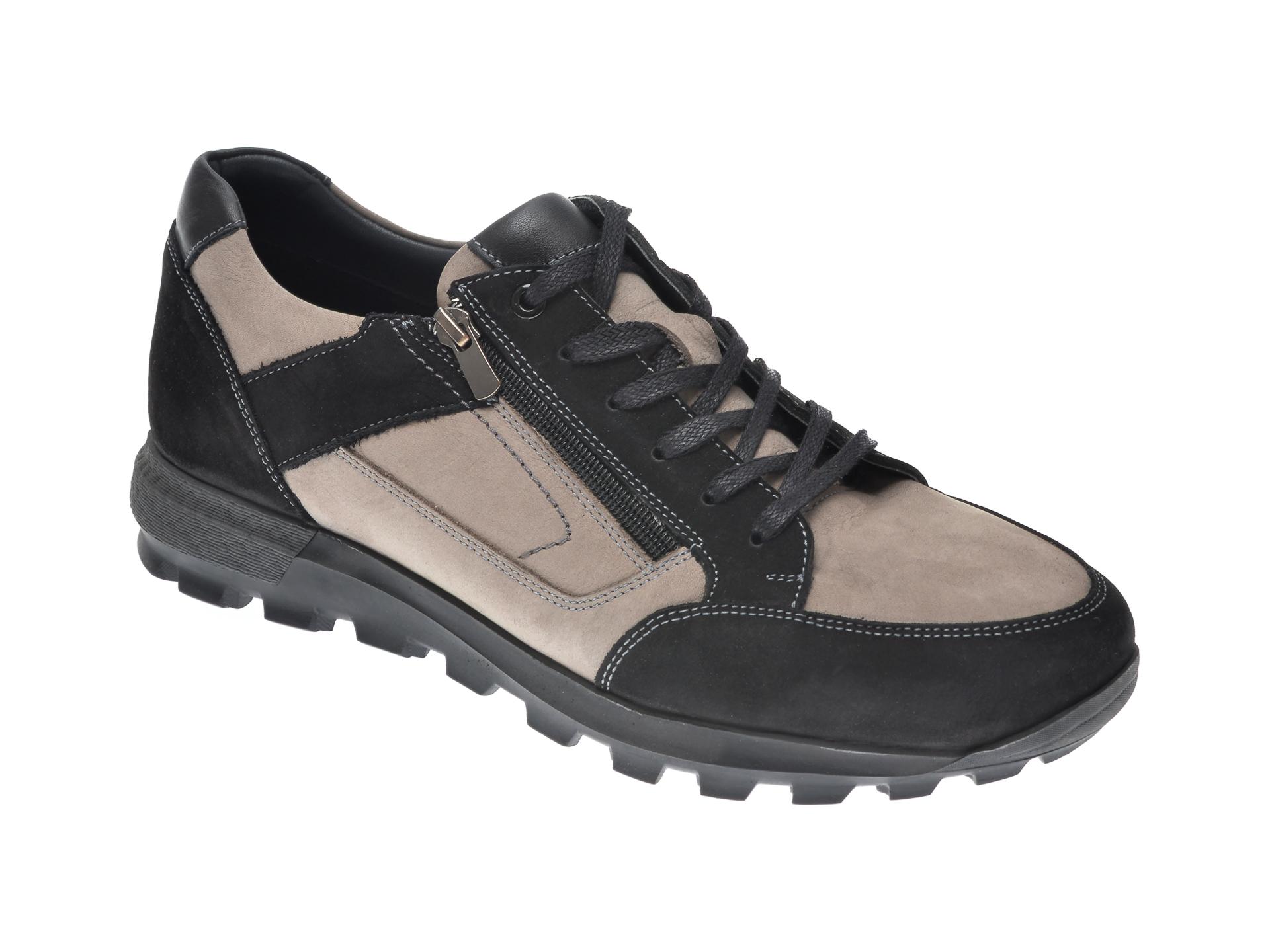 Pantofi OTTER negri, 27901, din nabuc imagine