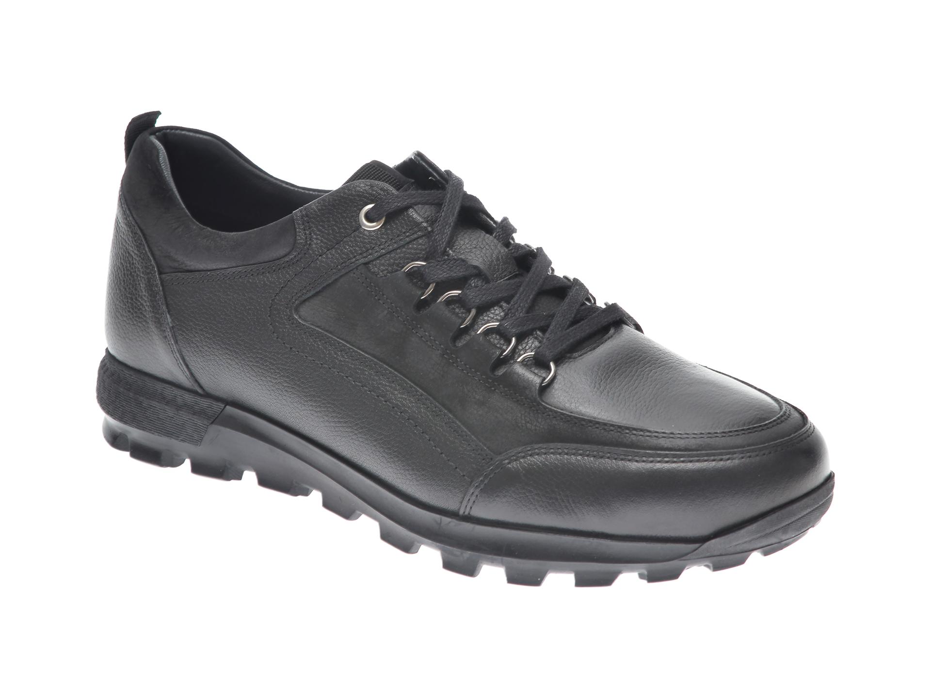 Pantofi OTTER negri, 27902, din piele naturala imagine
