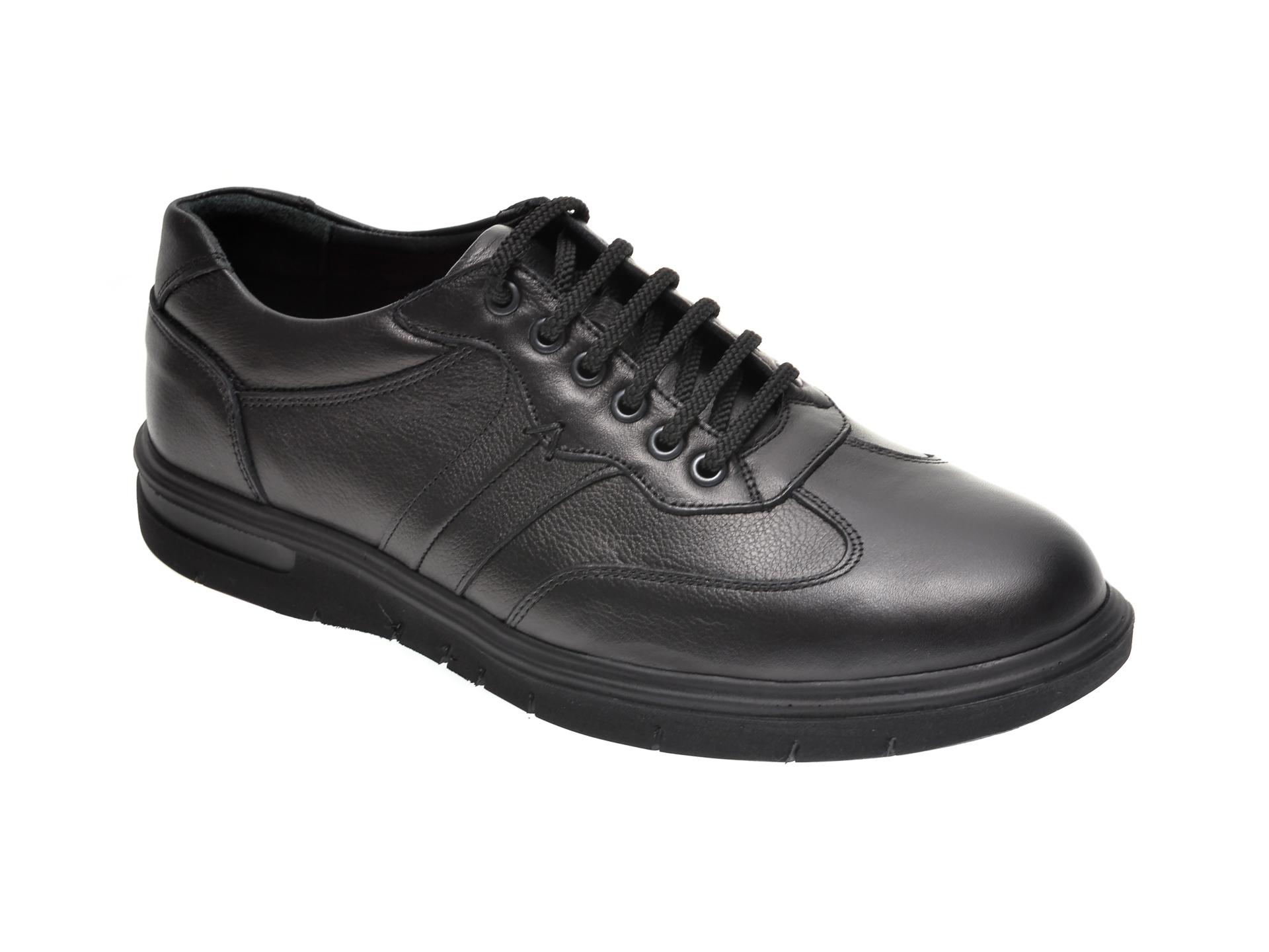 Pantofi OTTER negri, 2801, din piele naturala imagine