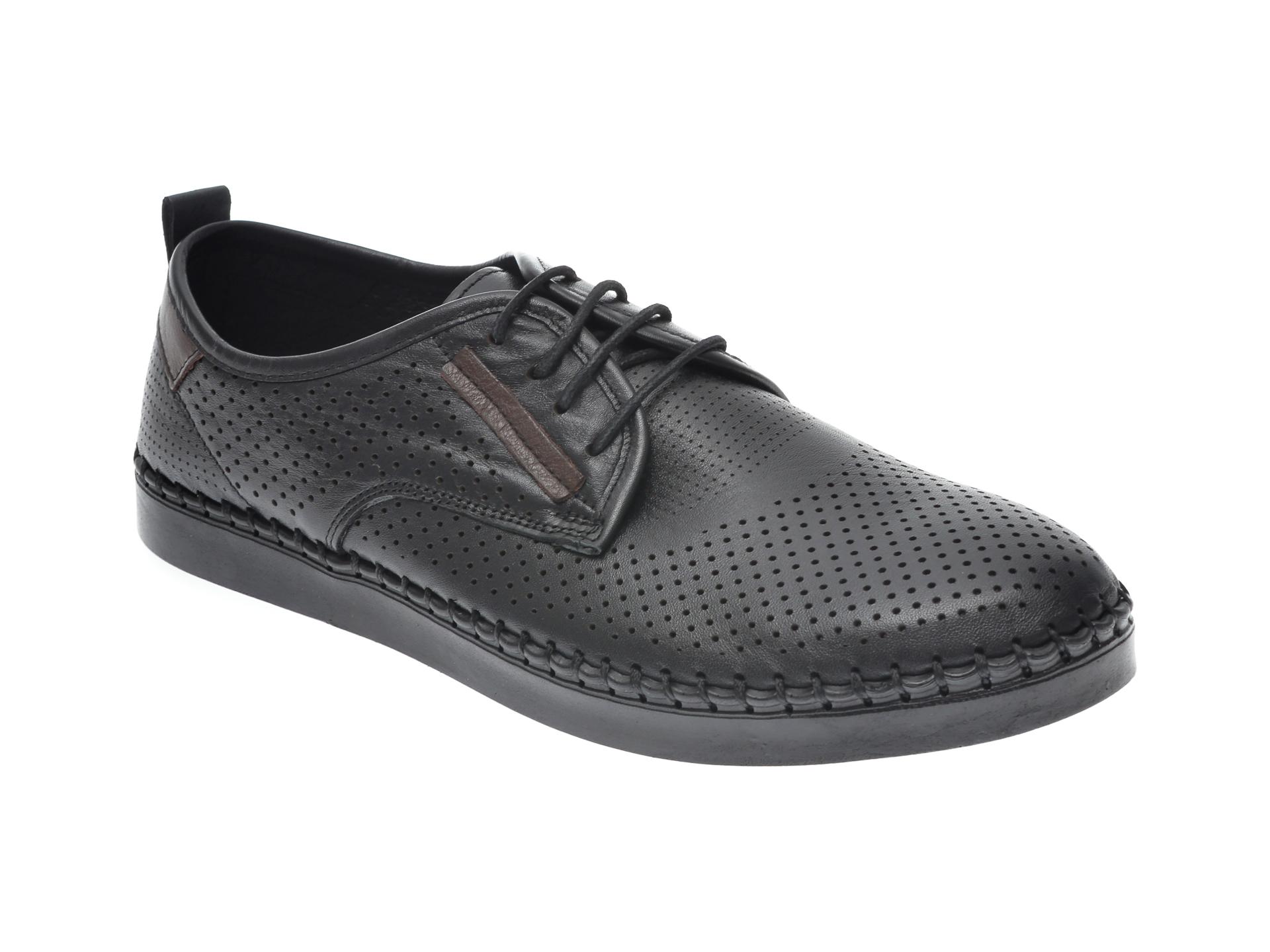 Pantofi OTTER negri, 2871, din piele naturala imagine